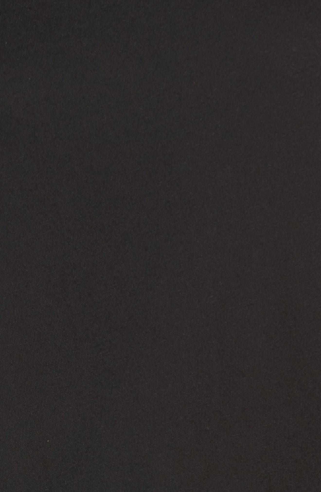 CASLON<SUP>®</SUP>,                             Peplum Tee,                             Alternate thumbnail 5, color,                             BLACK