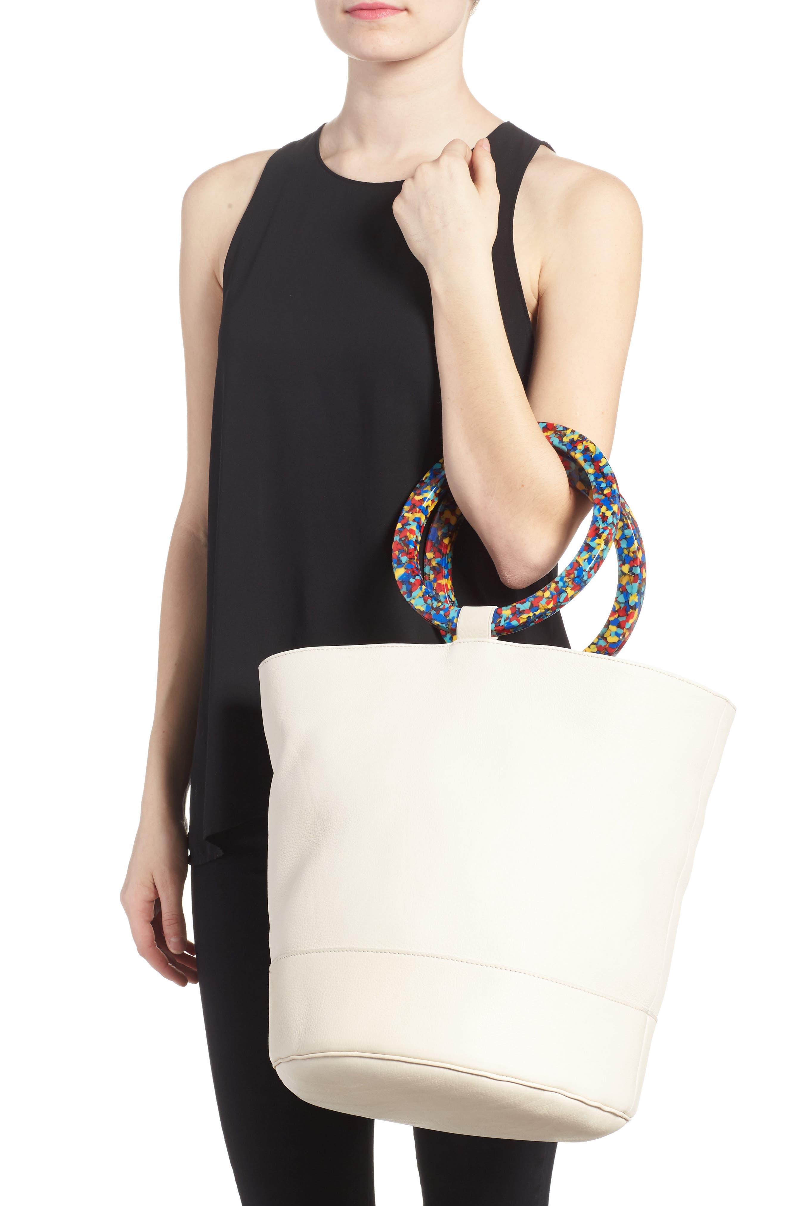 Confetti Handle Bonsai Leather Bucket Bag,                             Alternate thumbnail 2, color,                             900