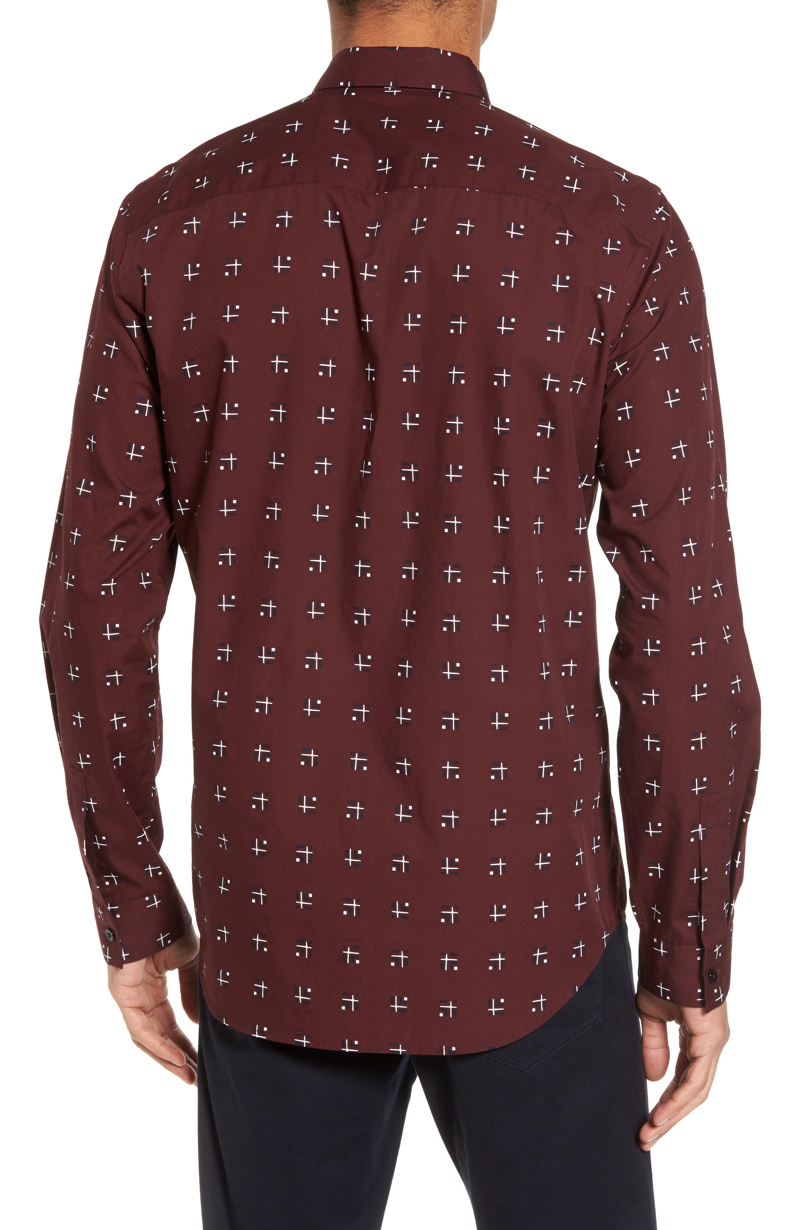 Levy Cross Box Regular Fit Sport Shirt,                             Alternate thumbnail 4, color,