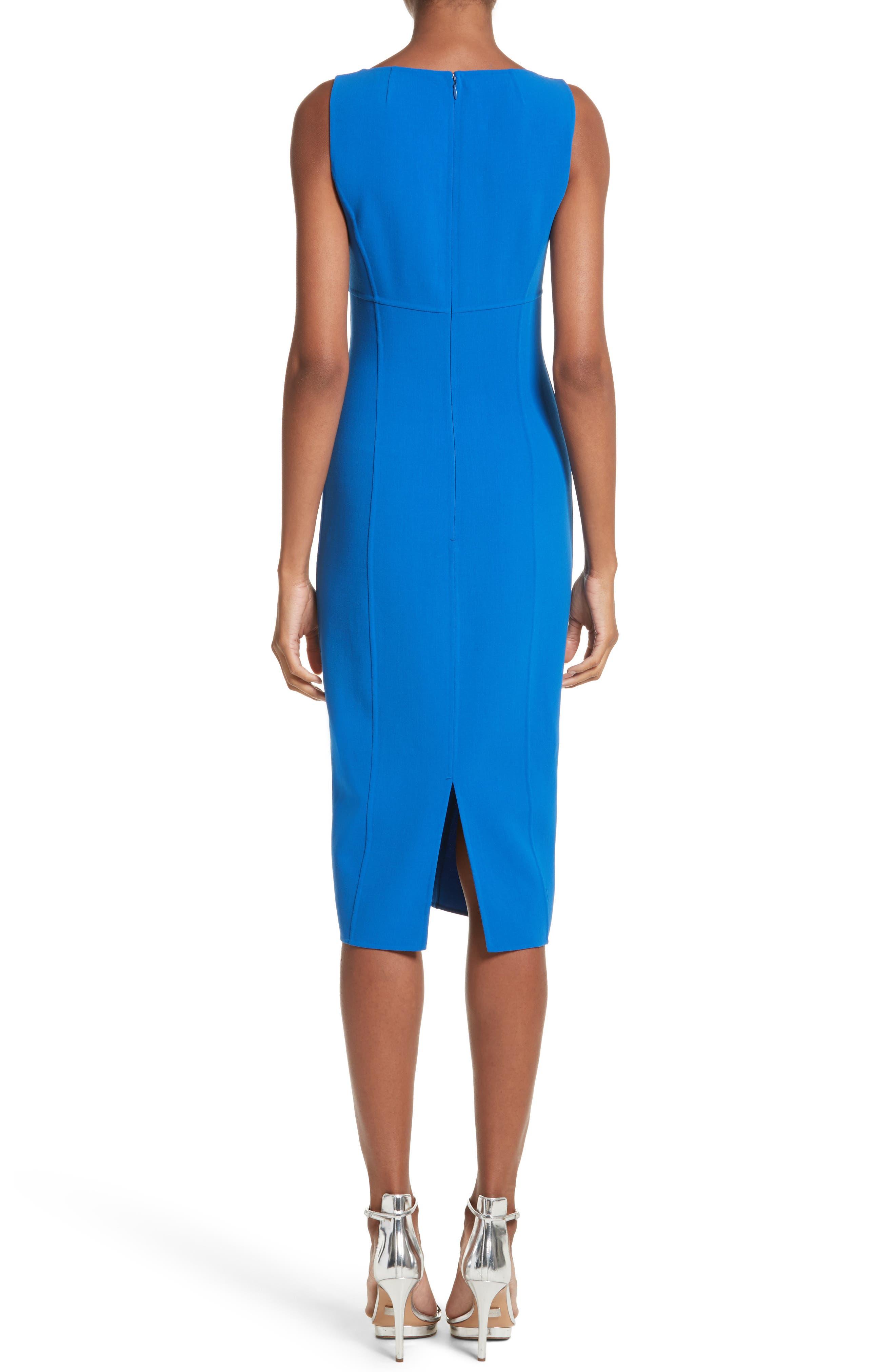 Stretch Wool Scoopneck Sheath Dress,                             Alternate thumbnail 2, color,                             405