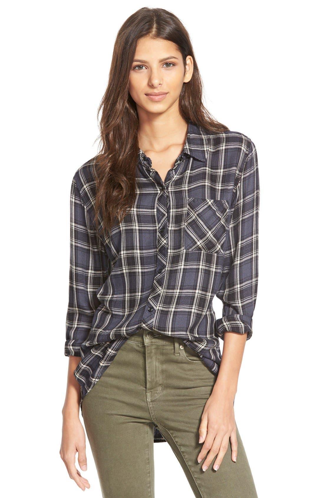 'Hunter' Plaid Shirt,                         Main,                         color, 020