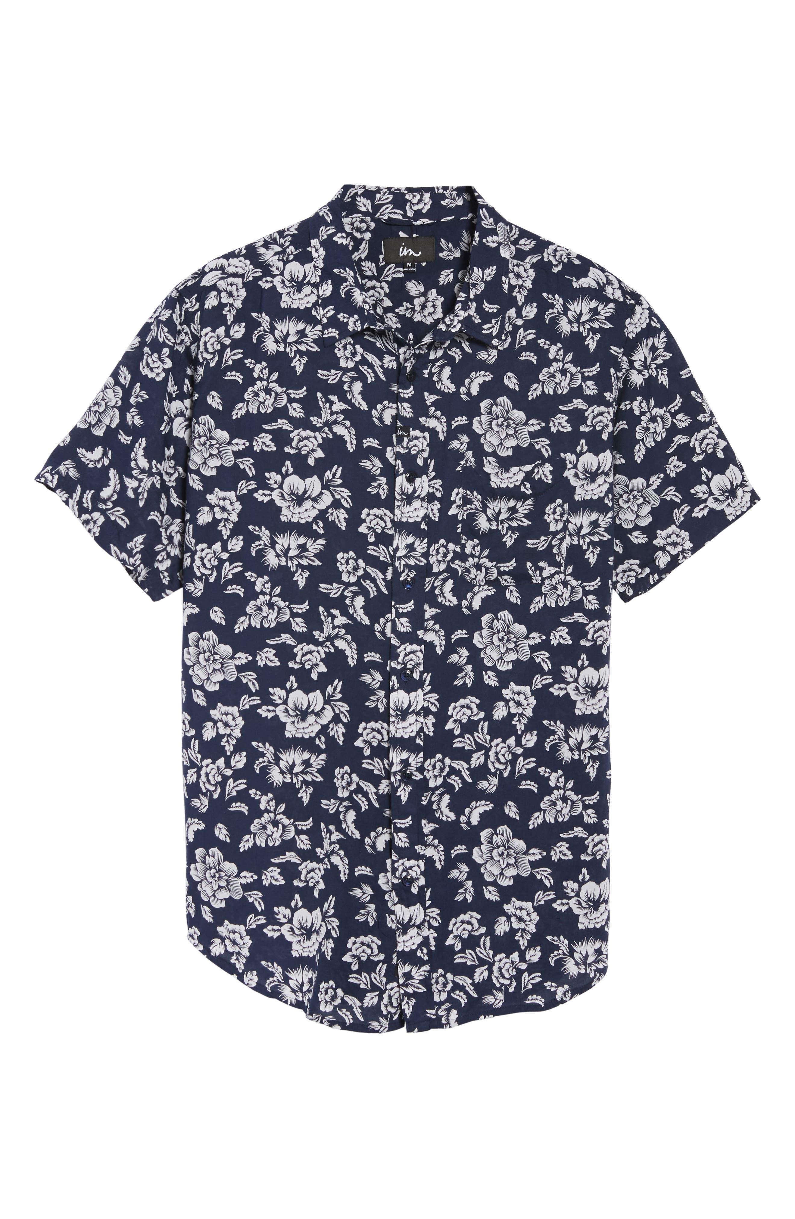 Havanna Trim-Fit Woven Shirt,                             Alternate thumbnail 6, color,                             400