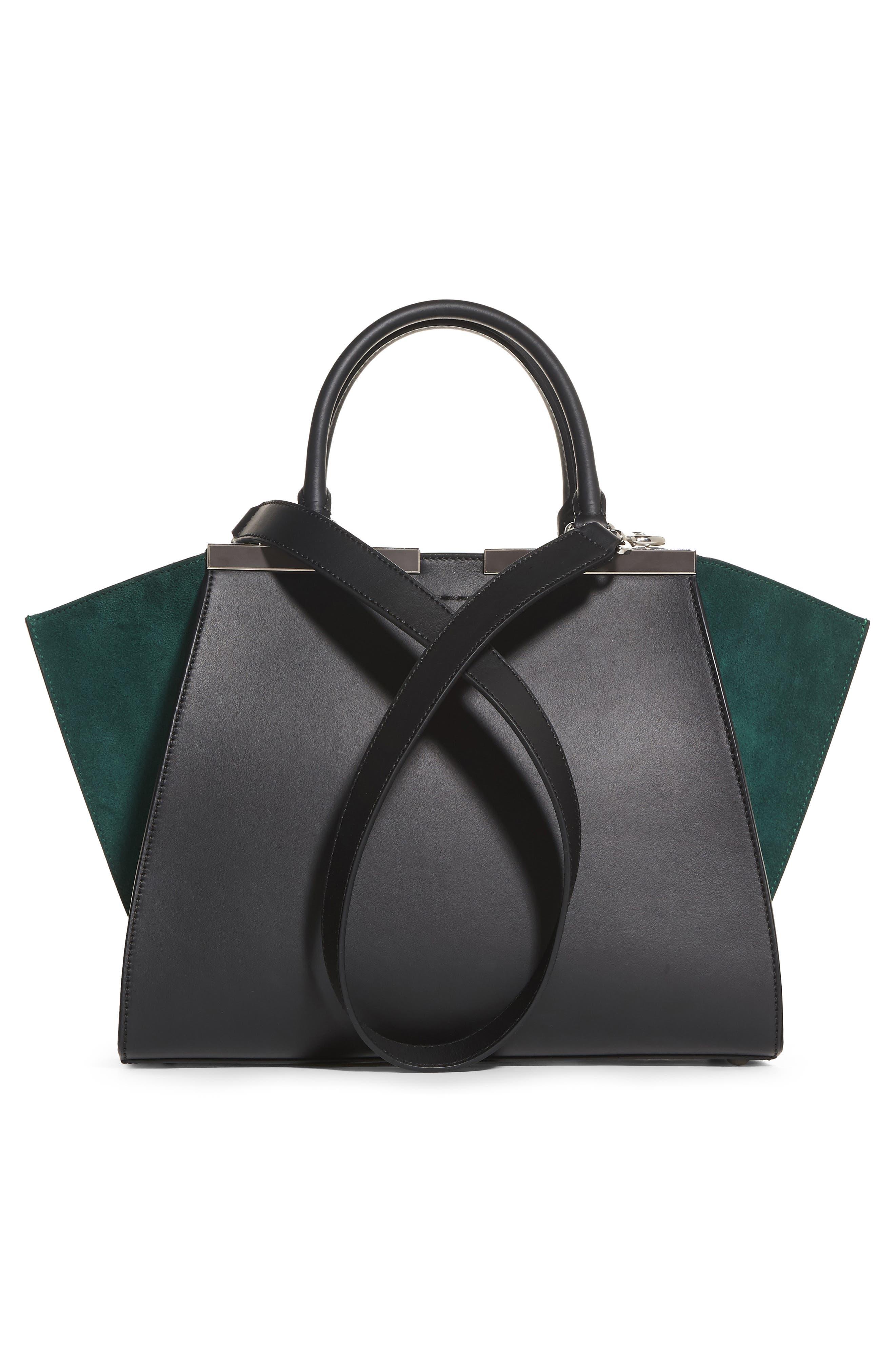 3Jours Baltico Leather & Suede Shopper,                             Alternate thumbnail 6, color,