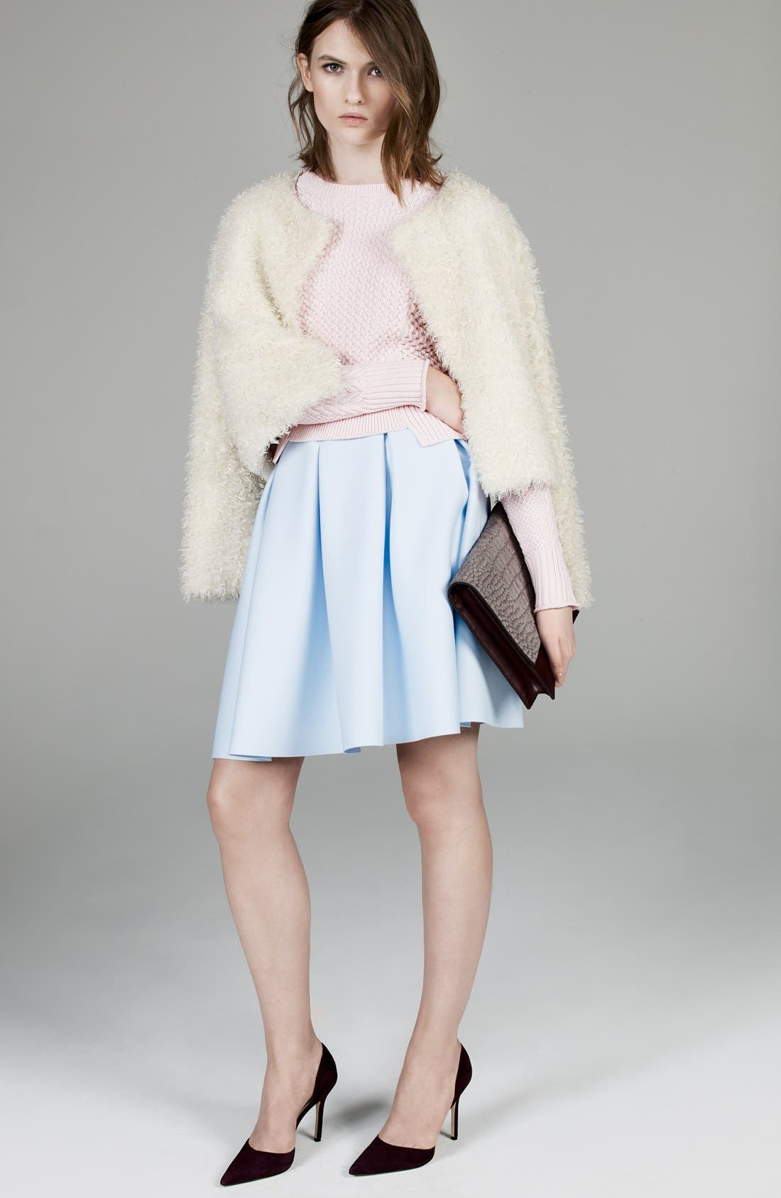 1.STATE,                             Pleated Jersey Skirt,                             Alternate thumbnail 5, color,                             400