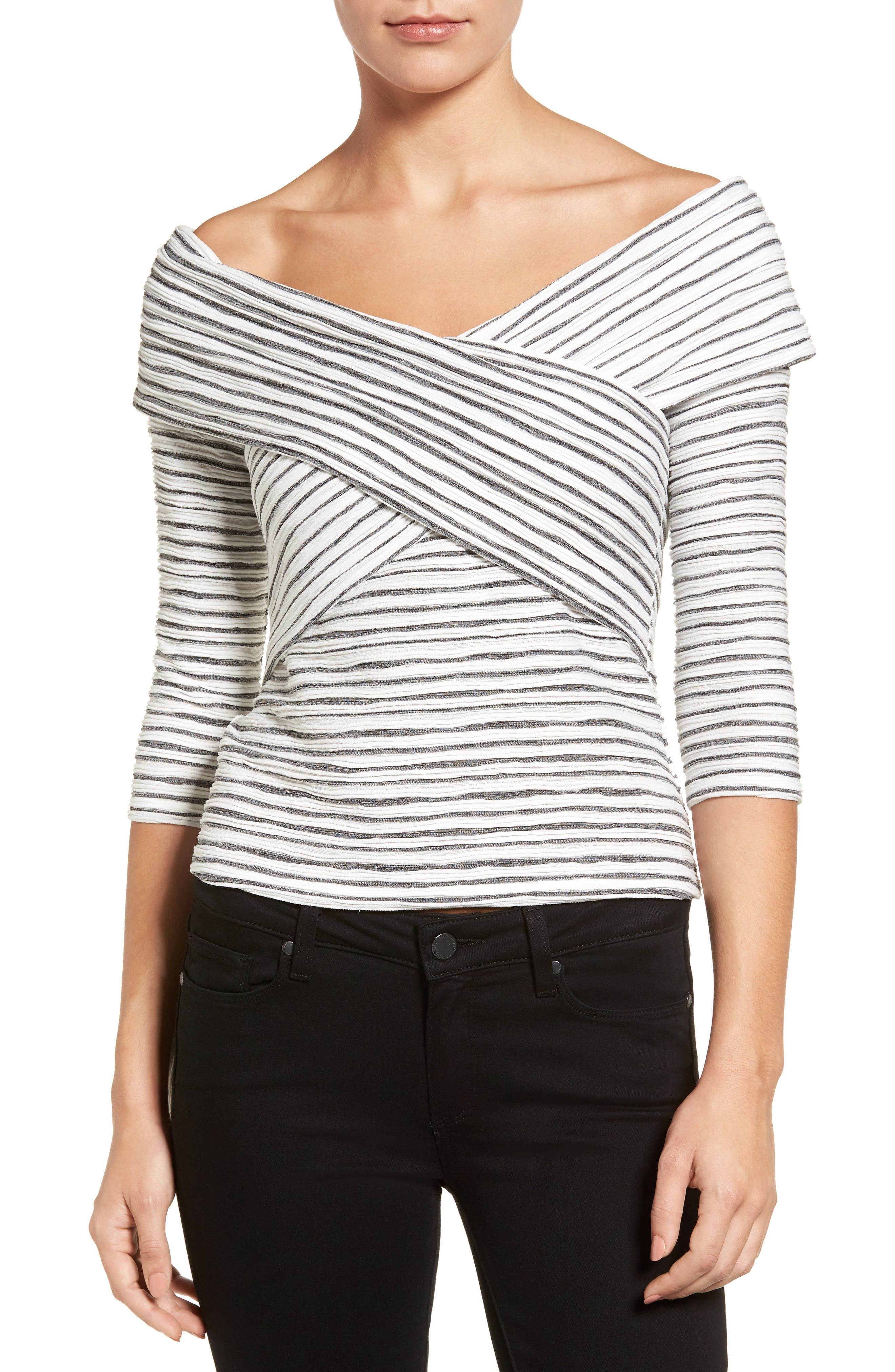 Crossover Stripe Top,                             Main thumbnail 3, color,