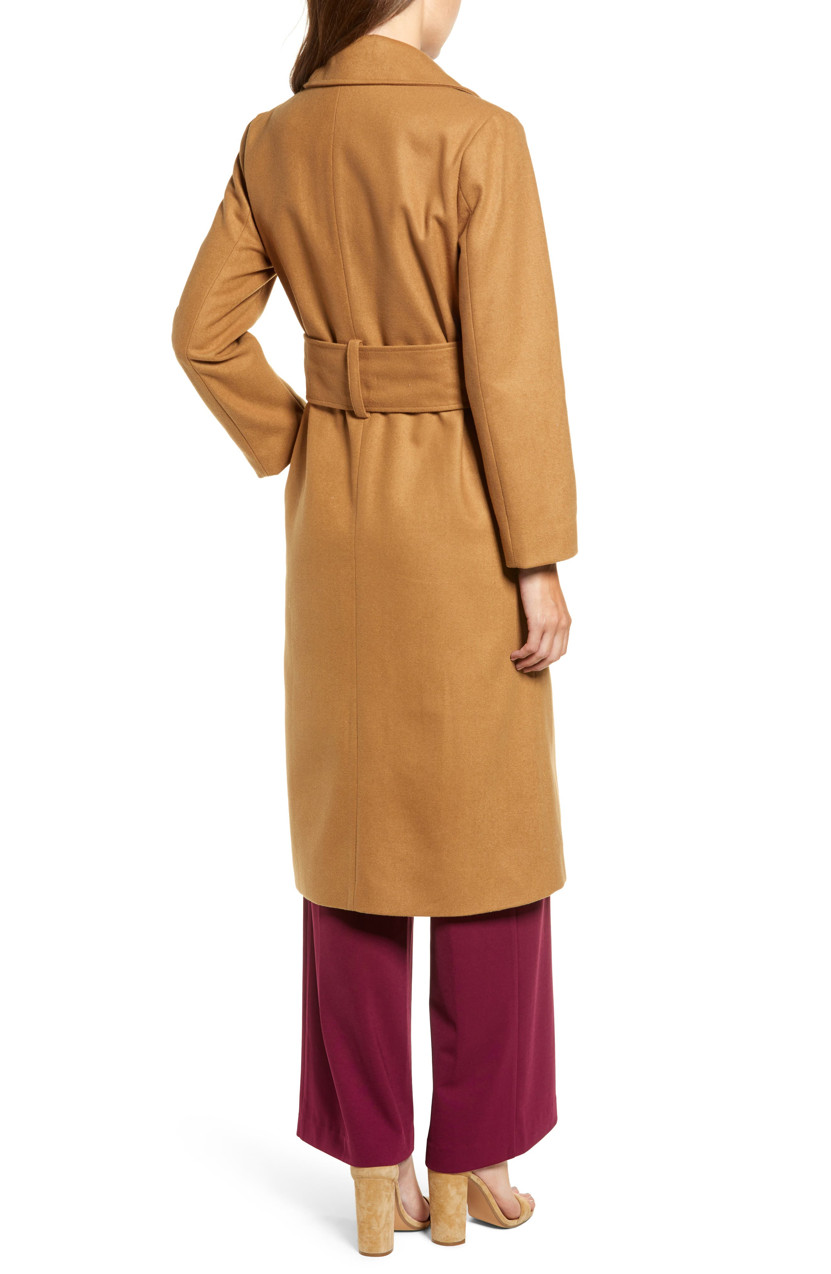 Chriselle Lim Victoria Belted Coat,                             Alternate thumbnail 3, color,                             CAMEL