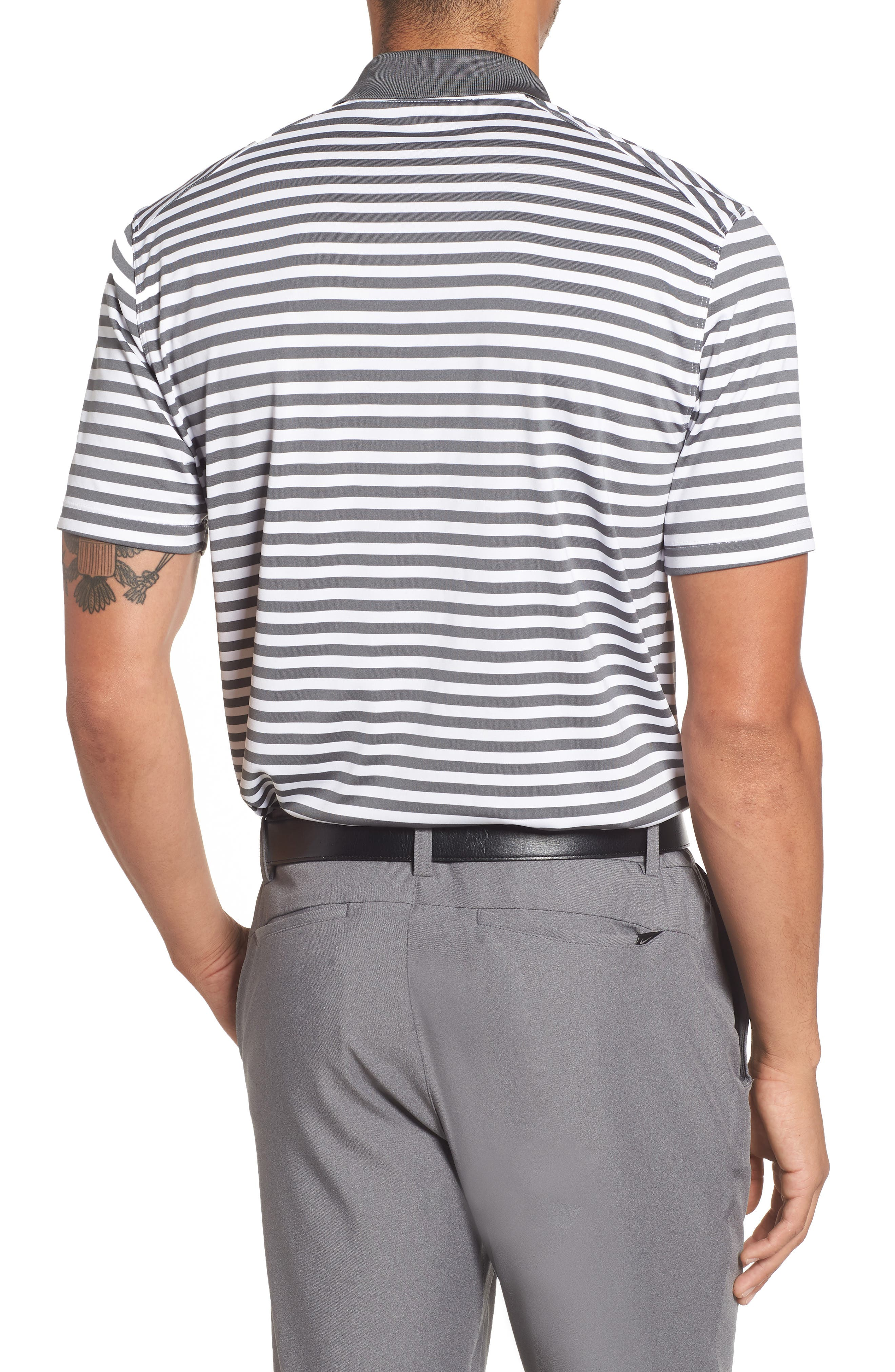 NIKE,                             Dry Victory Stripe Polo,                             Alternate thumbnail 2, color,                             021
