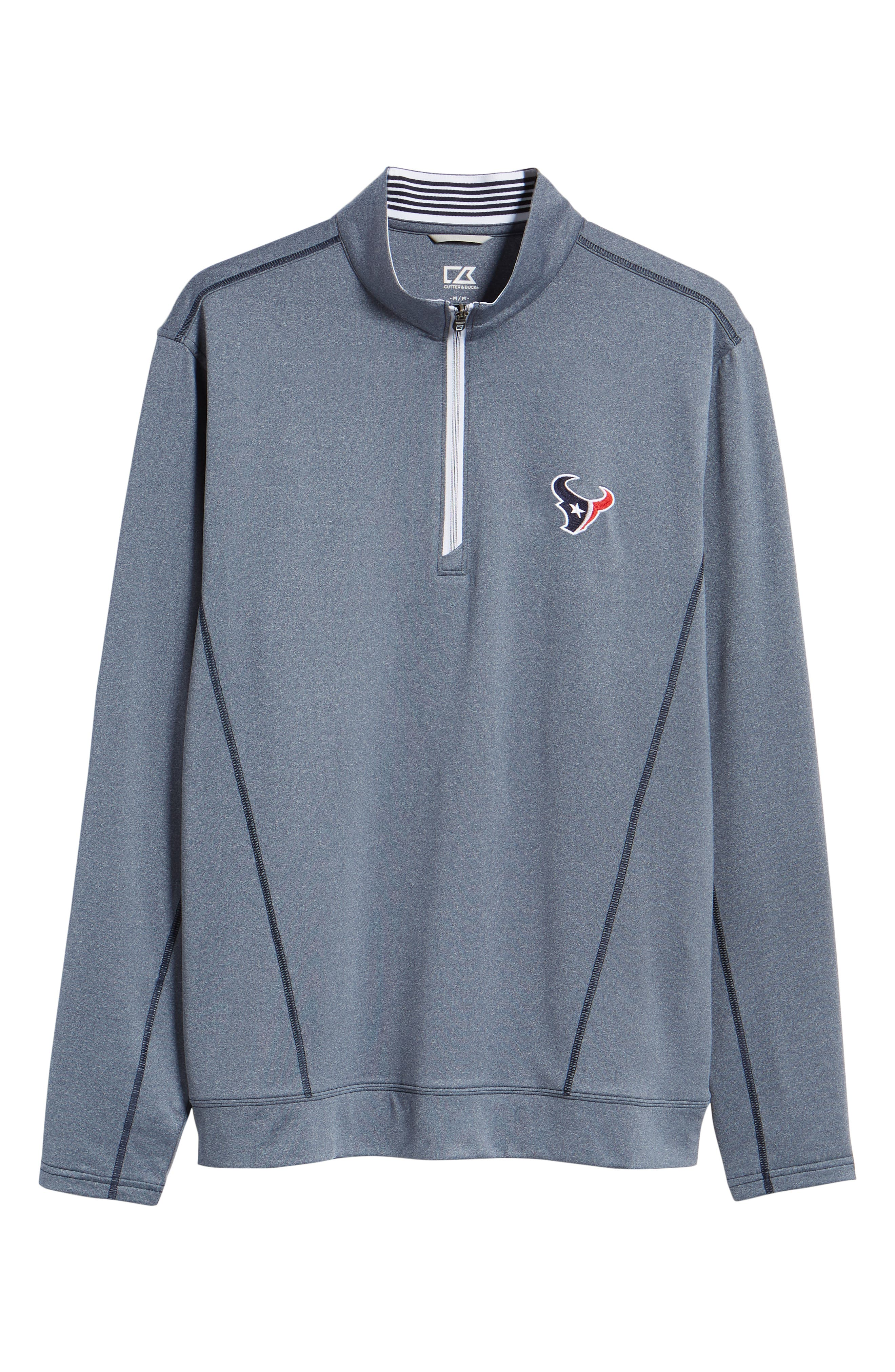 Endurance Houston Texans Regular Fit Pullover,                             Alternate thumbnail 6, color,                             LIBERTY NAVY HEATHER