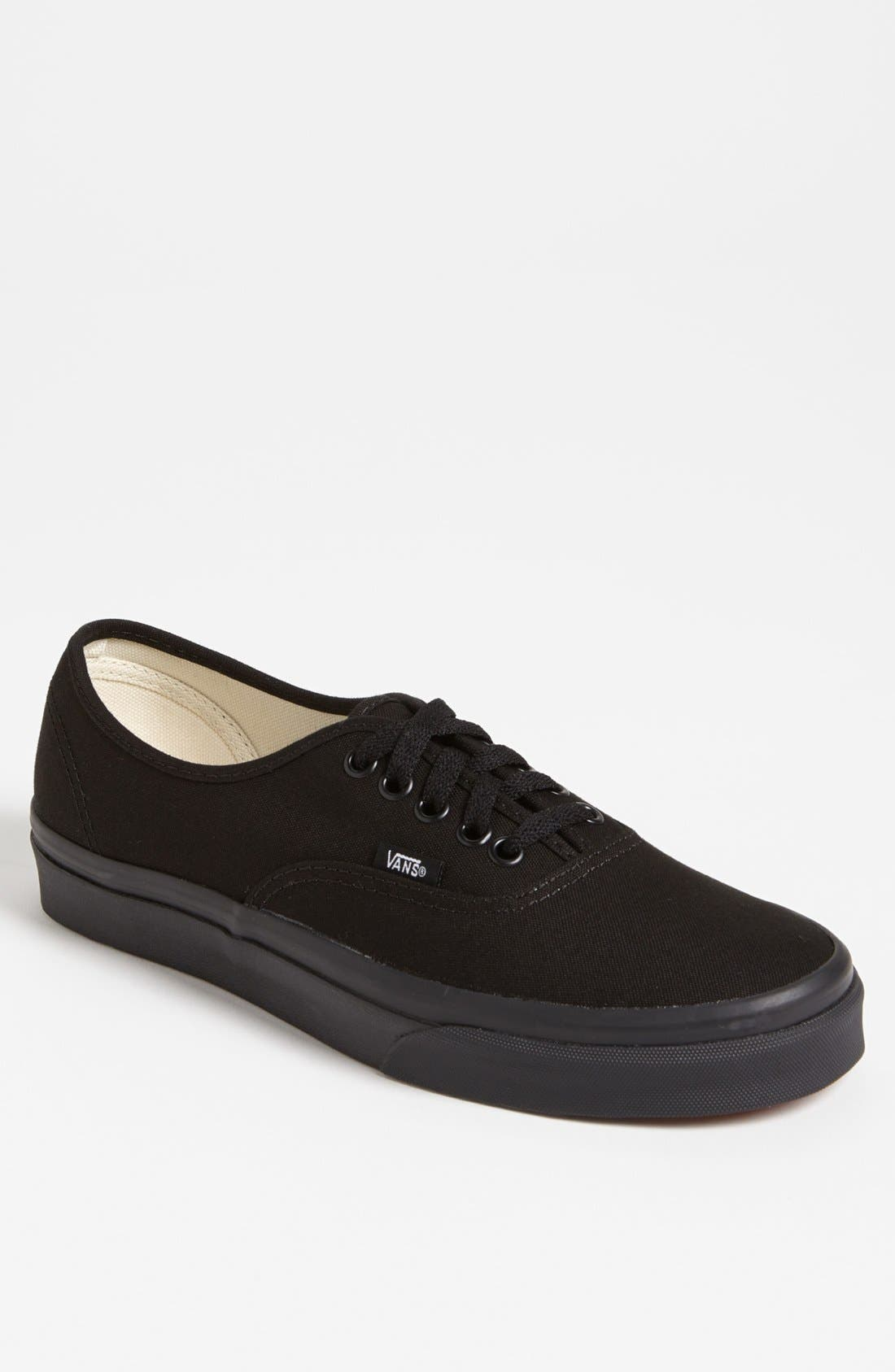 VANS 'Authentic' Sneaker, Main, color, BLACK/ BLACK