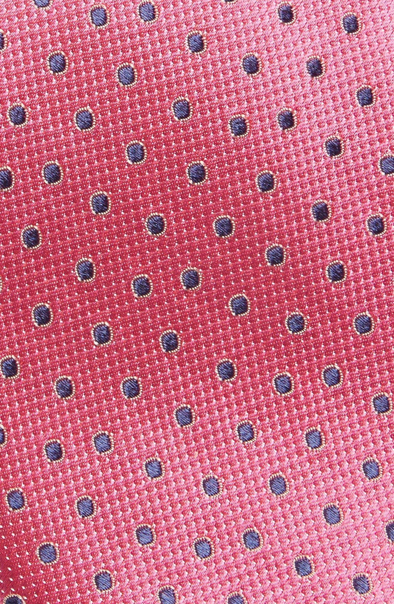 Double Dot Silk Tie,                             Alternate thumbnail 15, color,