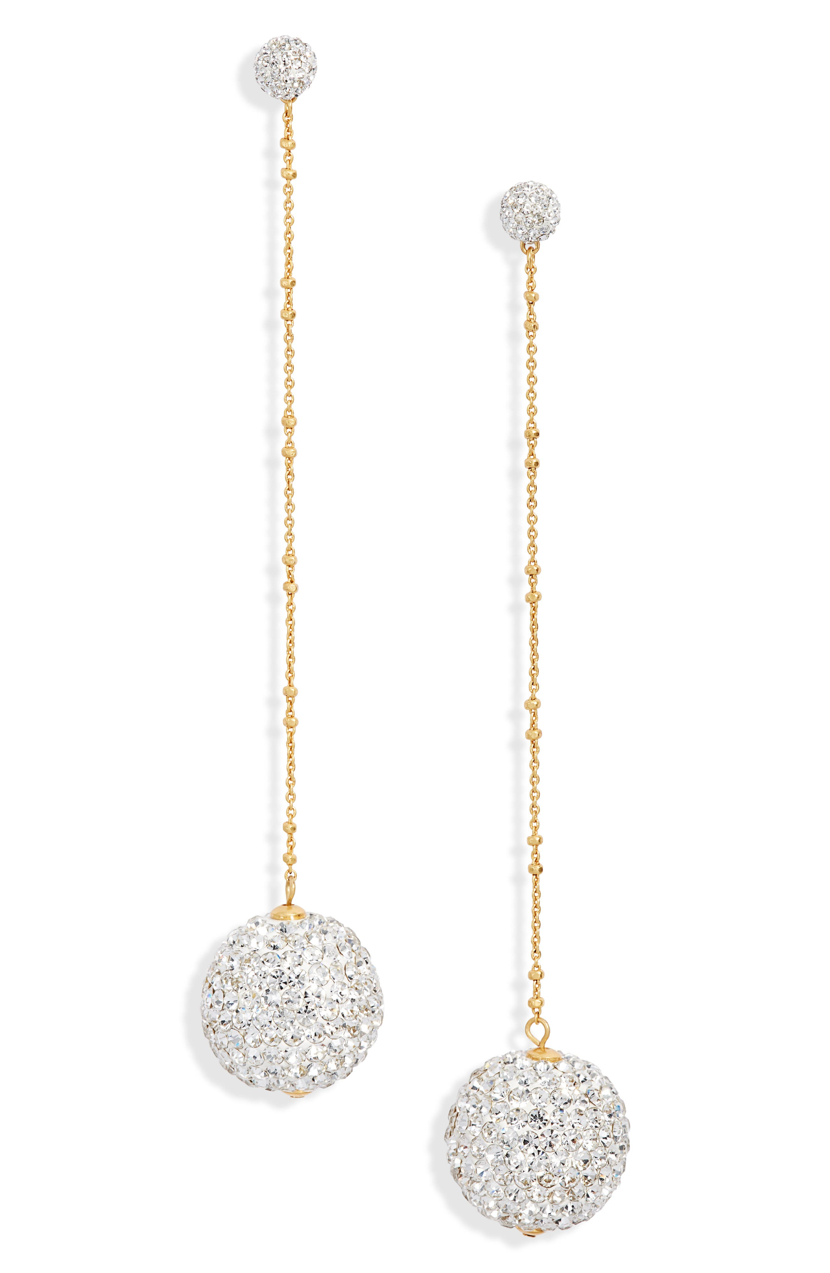KATE SPADE NEW YORK,                             razzle dazzle linear statement earrings,                             Main thumbnail 1, color,                             714