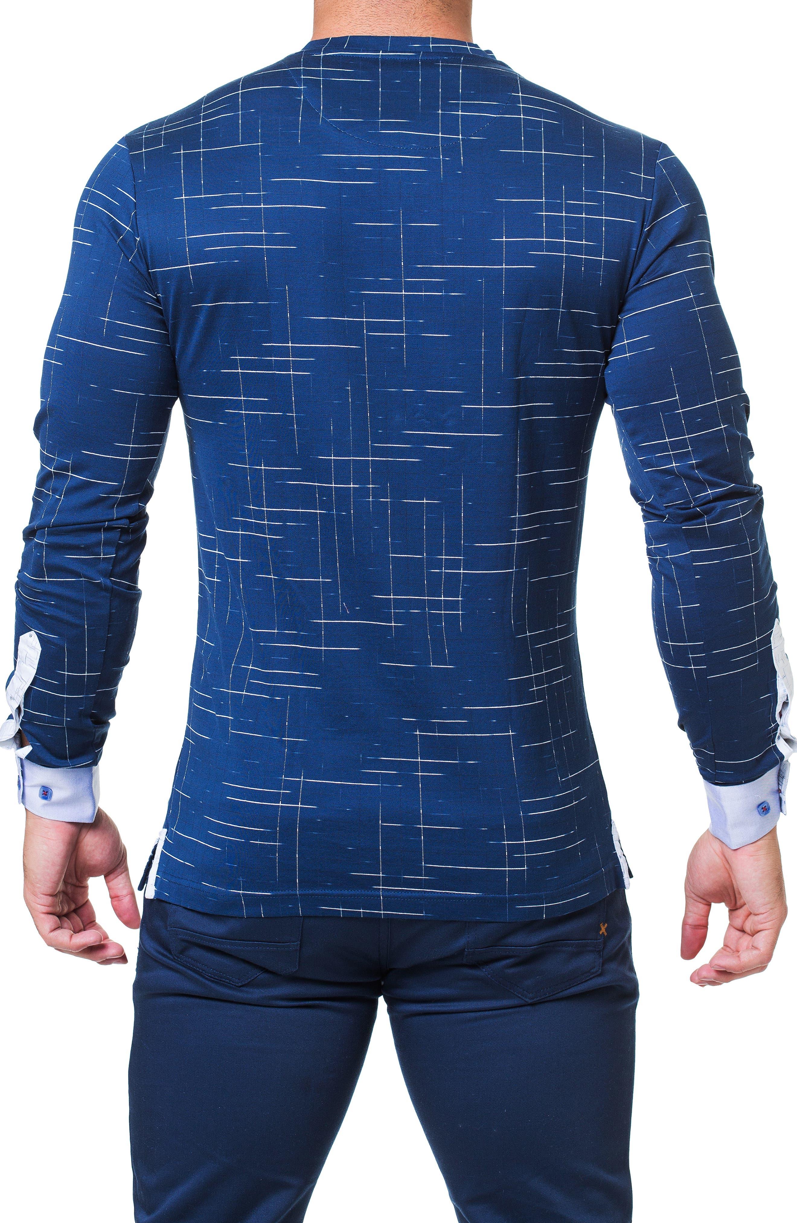 Edison Trim Fit Dash T-Shirt,                             Alternate thumbnail 2, color,                             BLUE