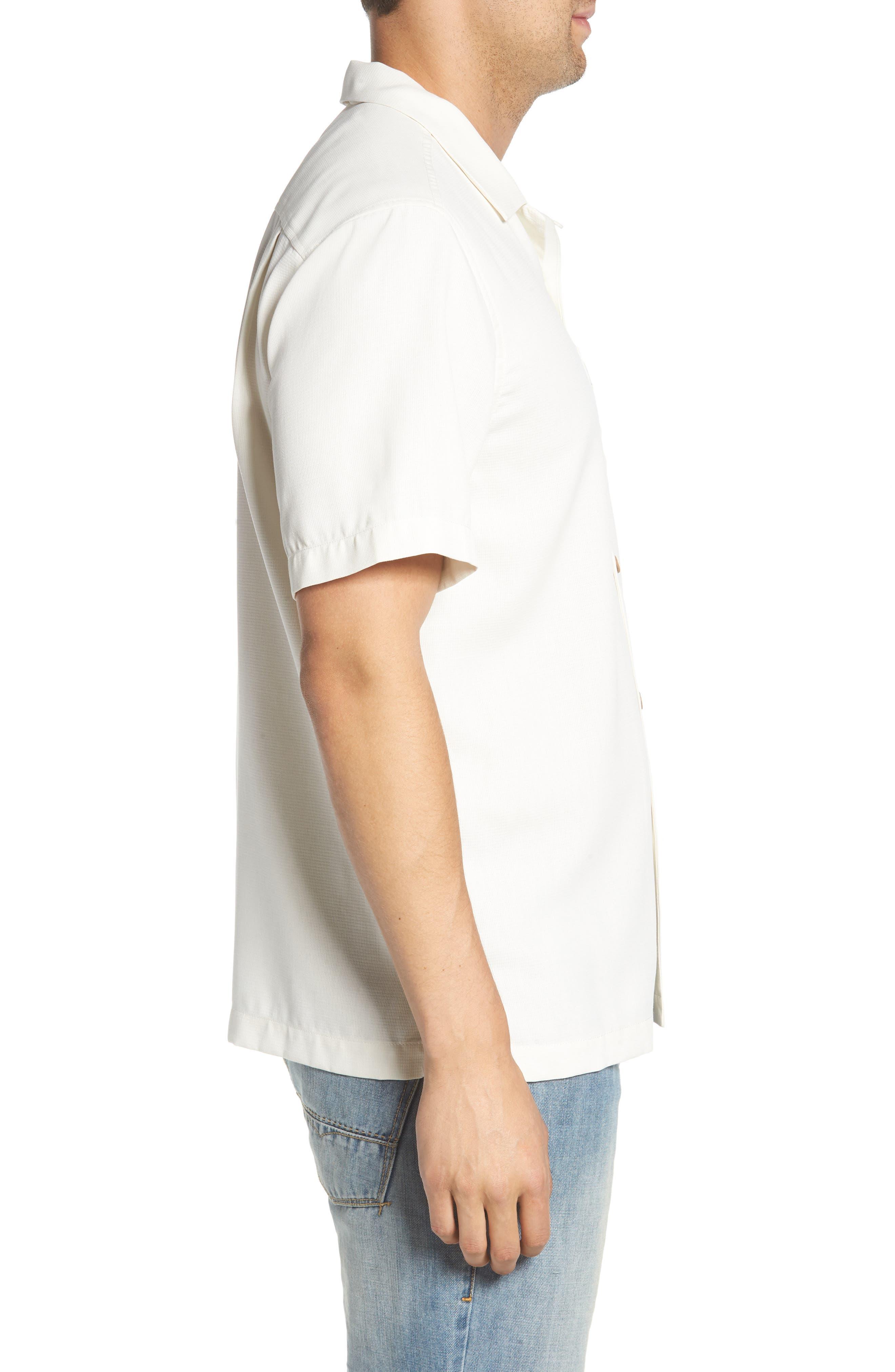 TOMMY BAHAMA,                             Royal Bermuda Silk Blend Camp Shirt,                             Alternate thumbnail 3, color,                             CONTINENTAL
