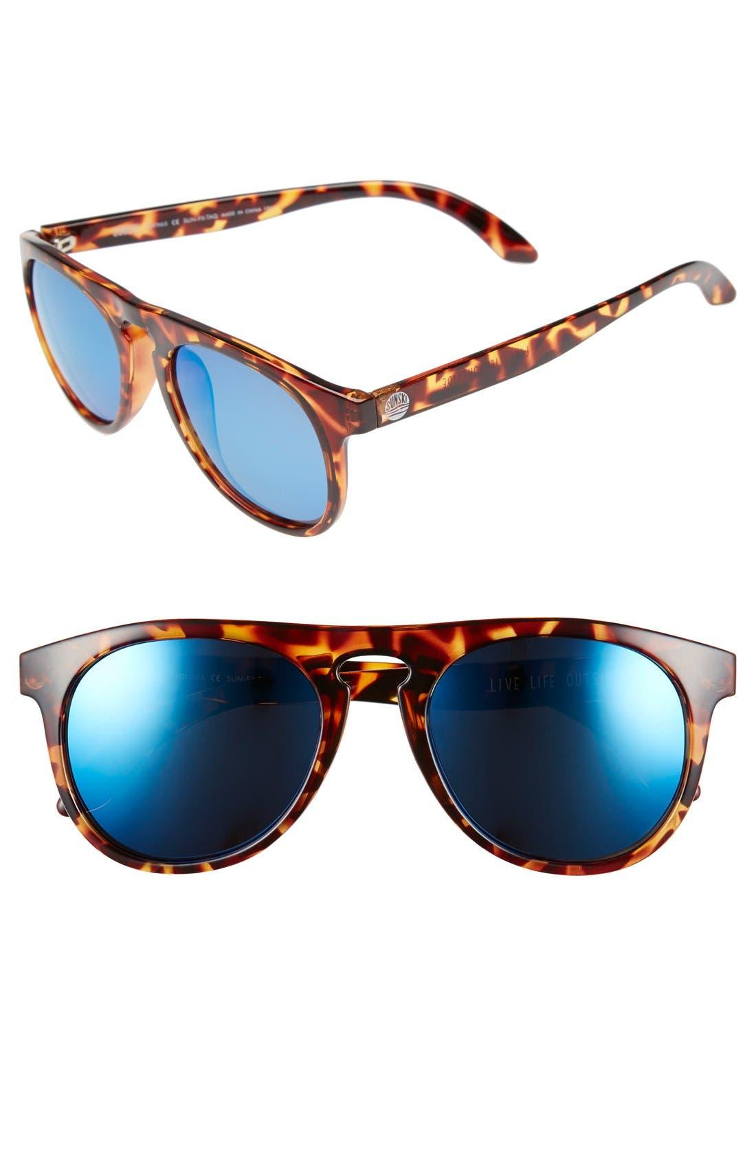'Foxtail' 52mm Polarized Aviator Sunglasses,                             Main thumbnail 2, color,