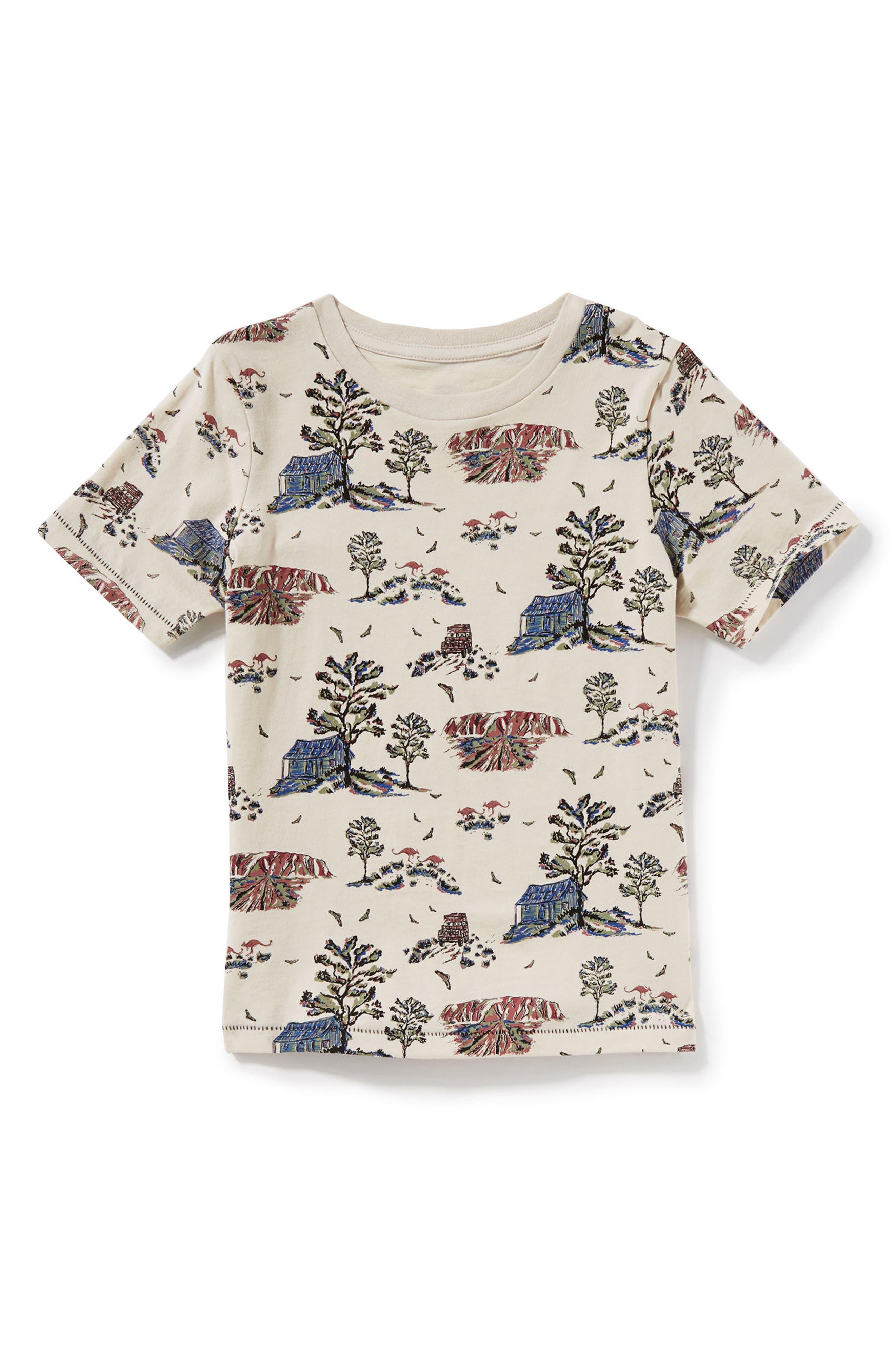 Beach Print T-Shirt,                             Main thumbnail 1, color,                             900