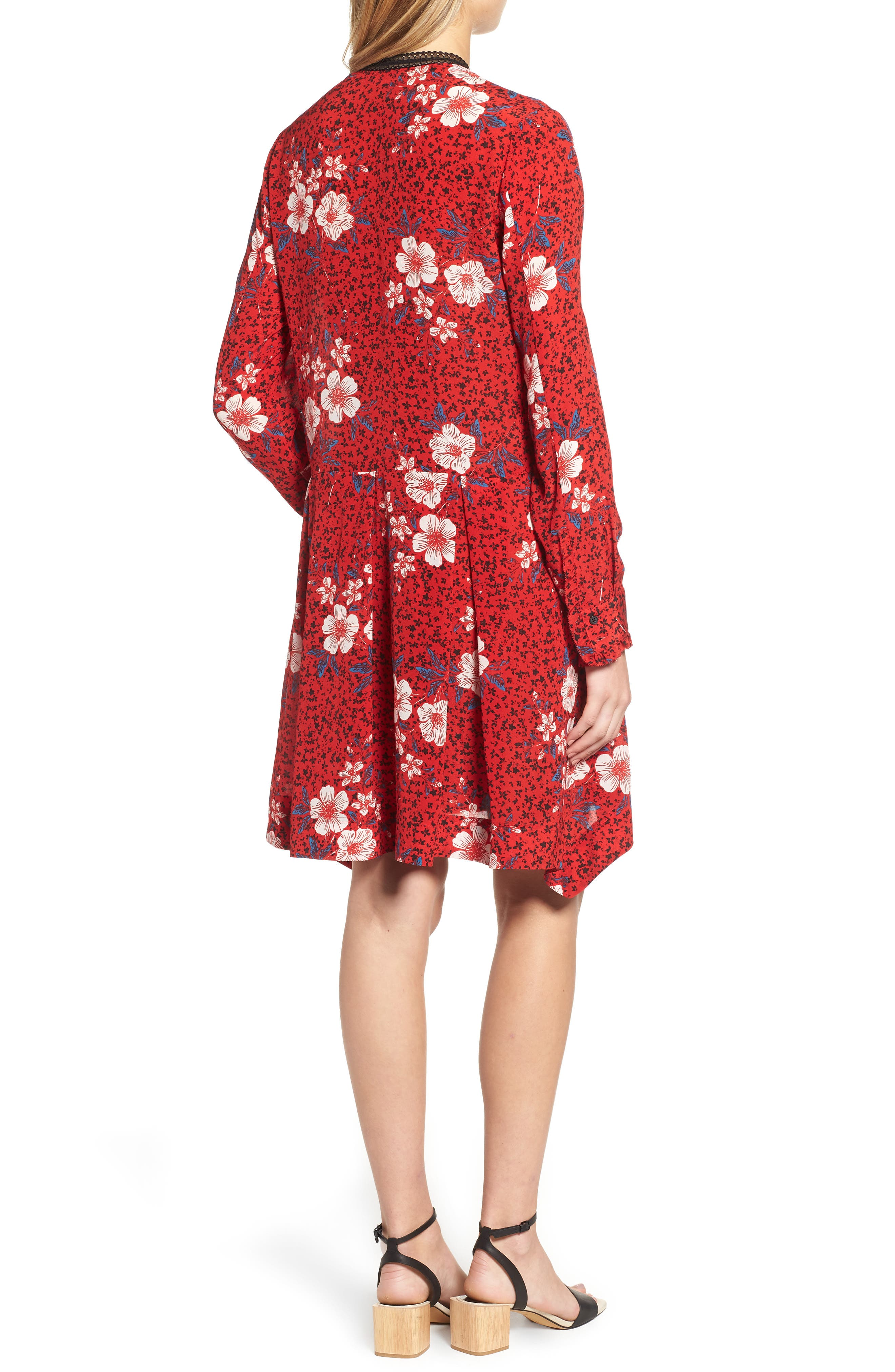 ZADIG & VOLTAIRE,                             Ruti Pensee Double Floral Silk Dress,                             Alternate thumbnail 2, color,                             648