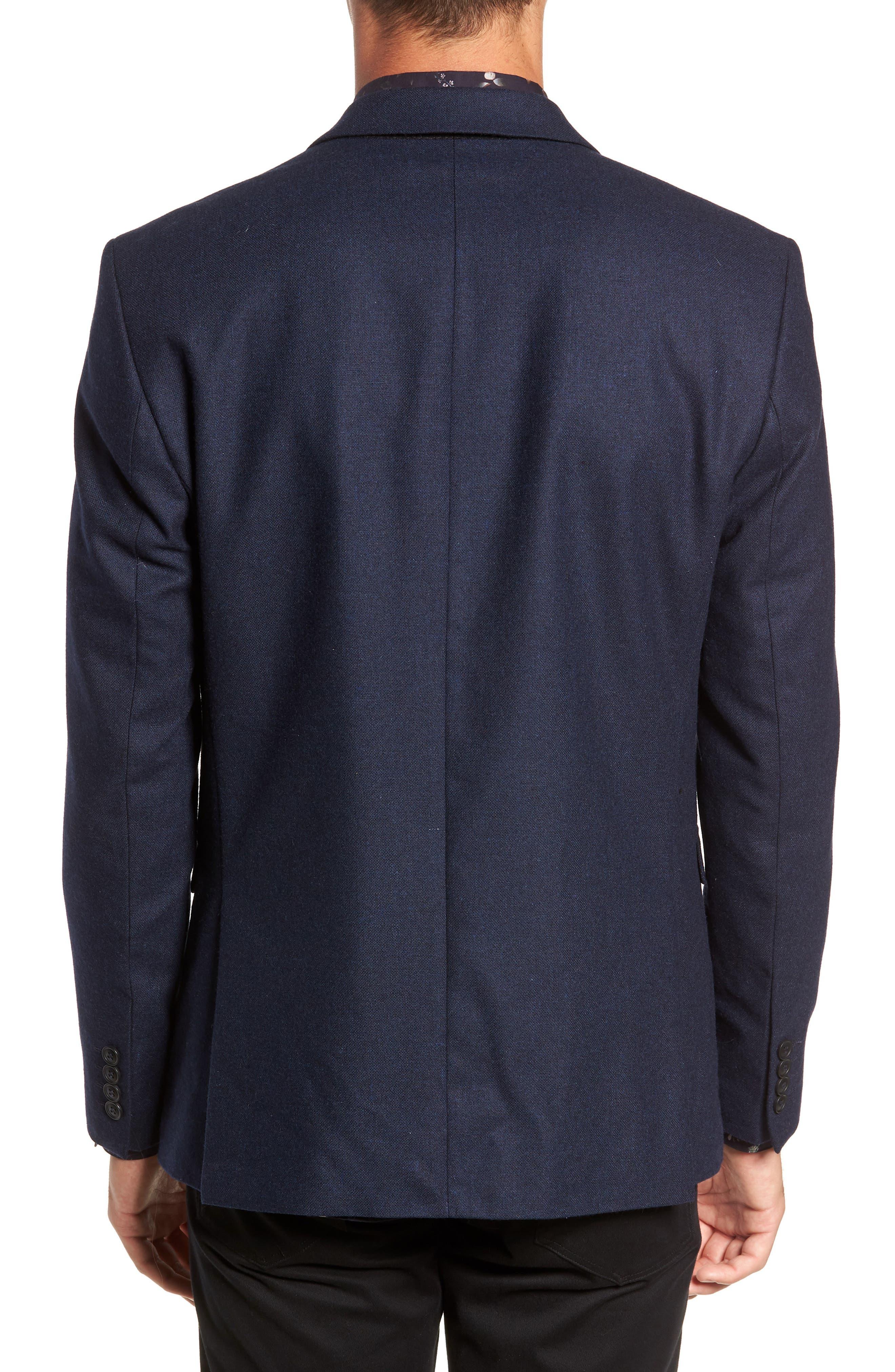 Myloiver Slim Fit Wool Blend Blazer,                             Alternate thumbnail 2, color,                             DARK NAVY