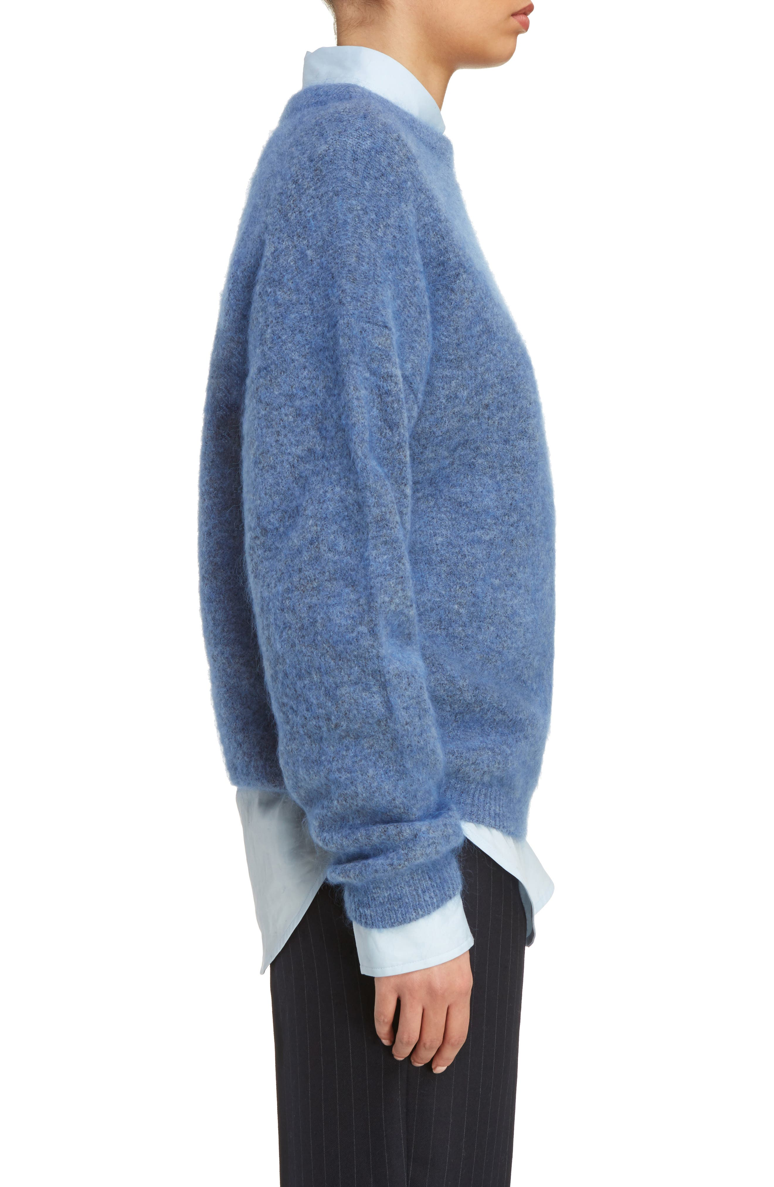 Dramatic Oversized Mohair Blend Sweater,                             Alternate thumbnail 3, color,