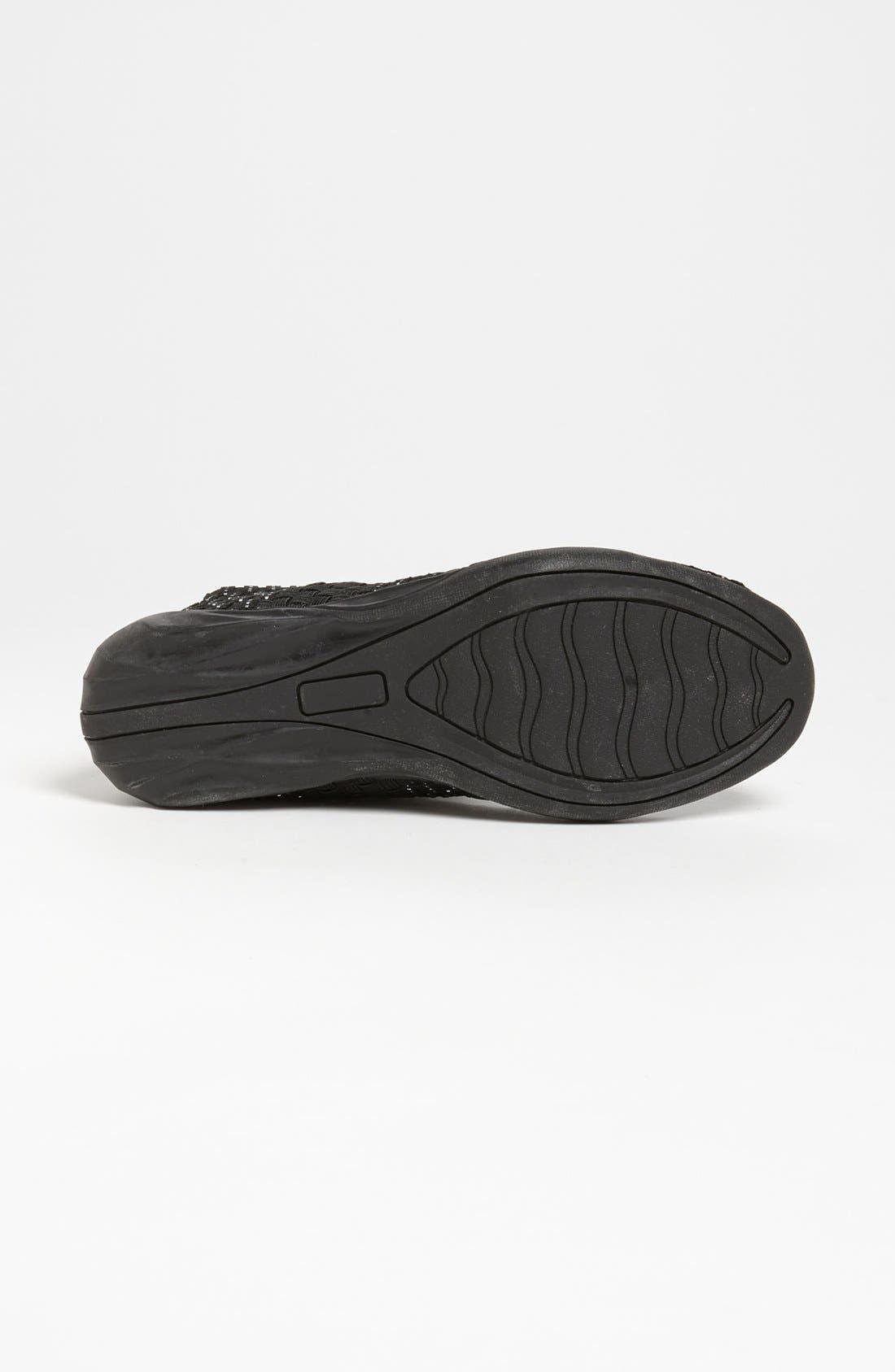 'Cuddly' Sneaker,                             Alternate thumbnail 3, color,                             BLACK SILVER