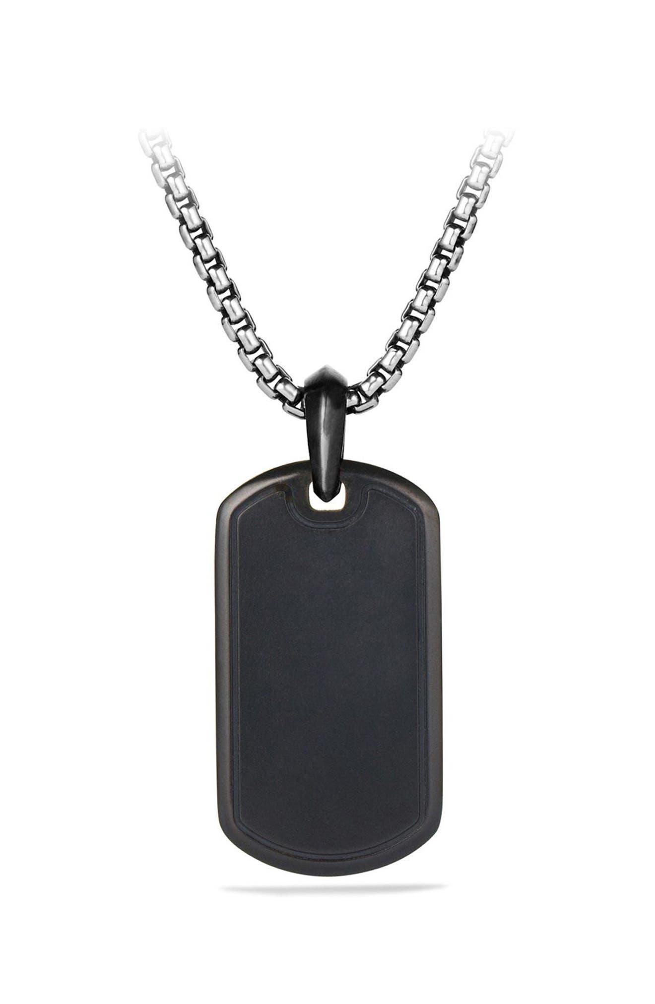 Pavé Tag with Black Diamonds and Black Titanium,                             Alternate thumbnail 2, color,                             BLACK DIAMOND