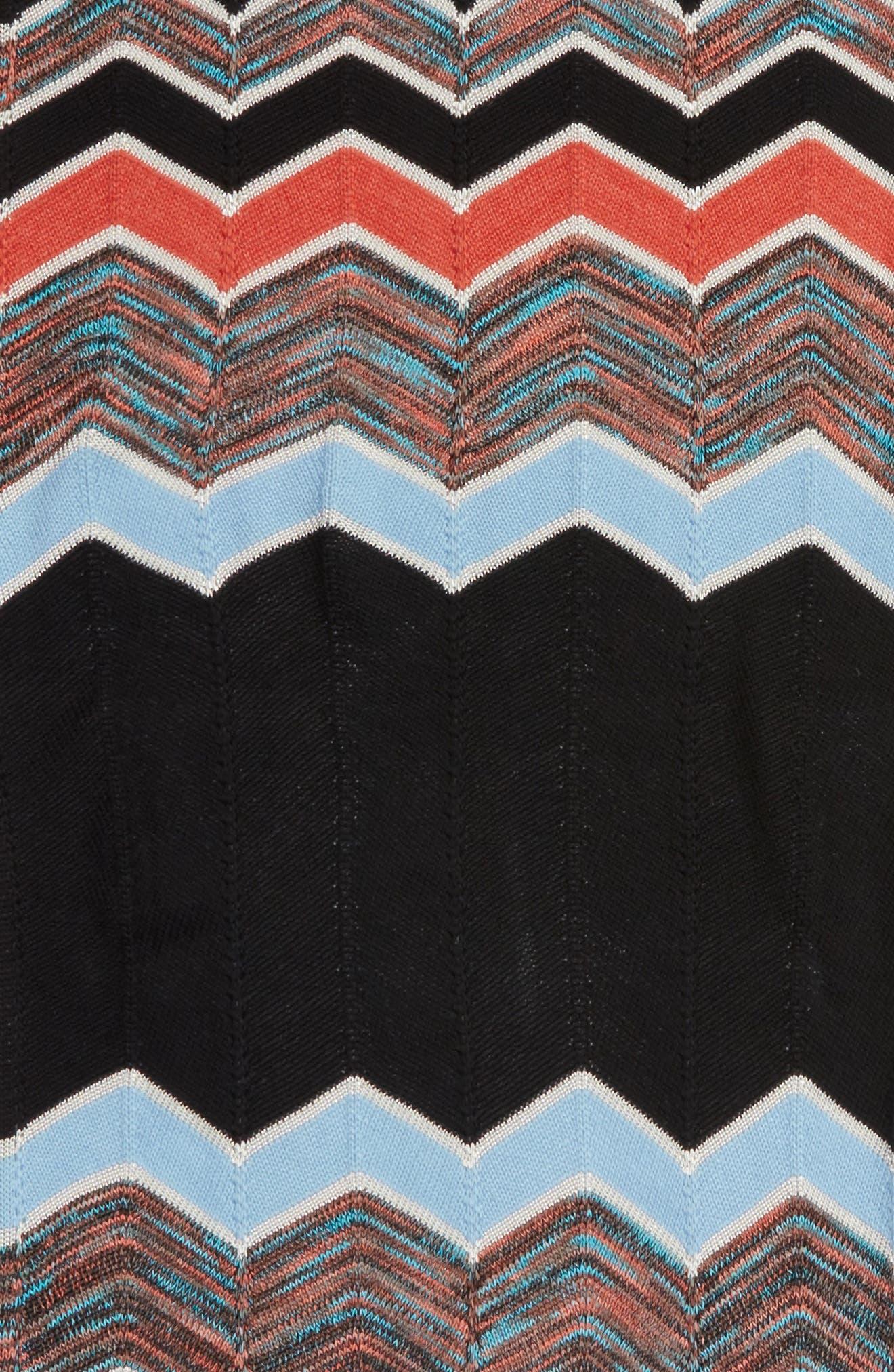 Zigzag Scarf,                             Alternate thumbnail 4, color,                             PINK/ BLACK