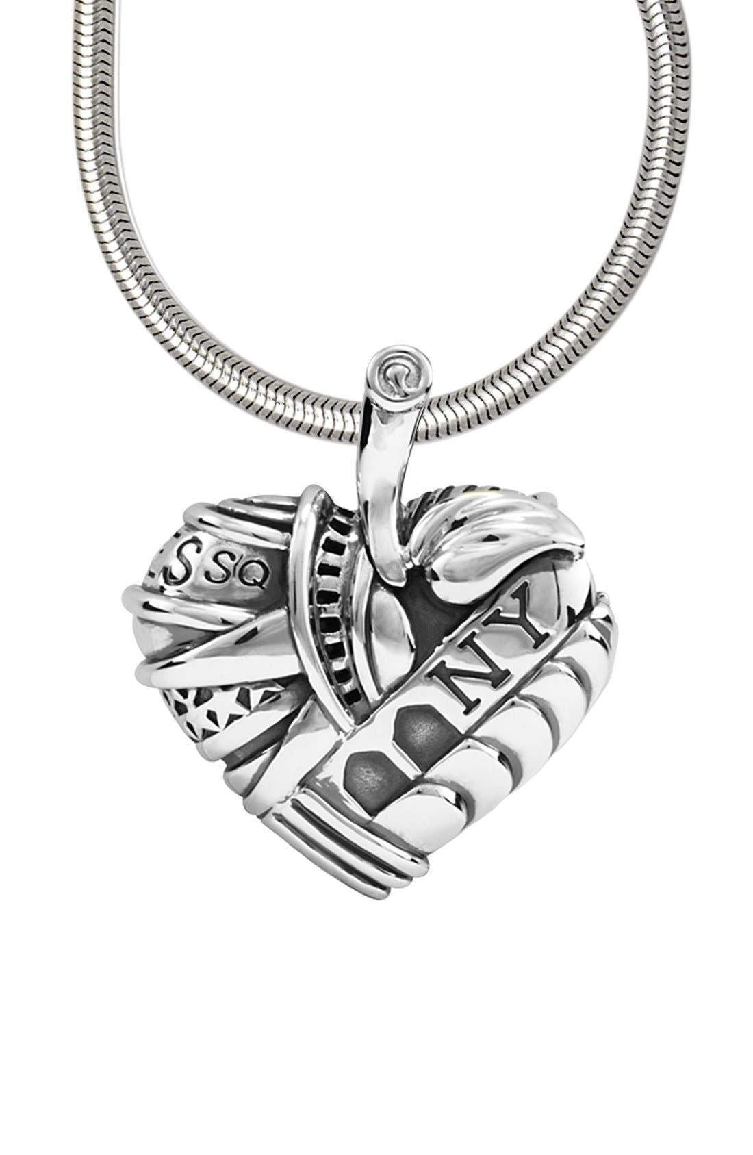 'Hearts of LAGOS - New York' Long Pendant Necklace,                             Alternate thumbnail 4, color,                             HEART OF NEW YORK