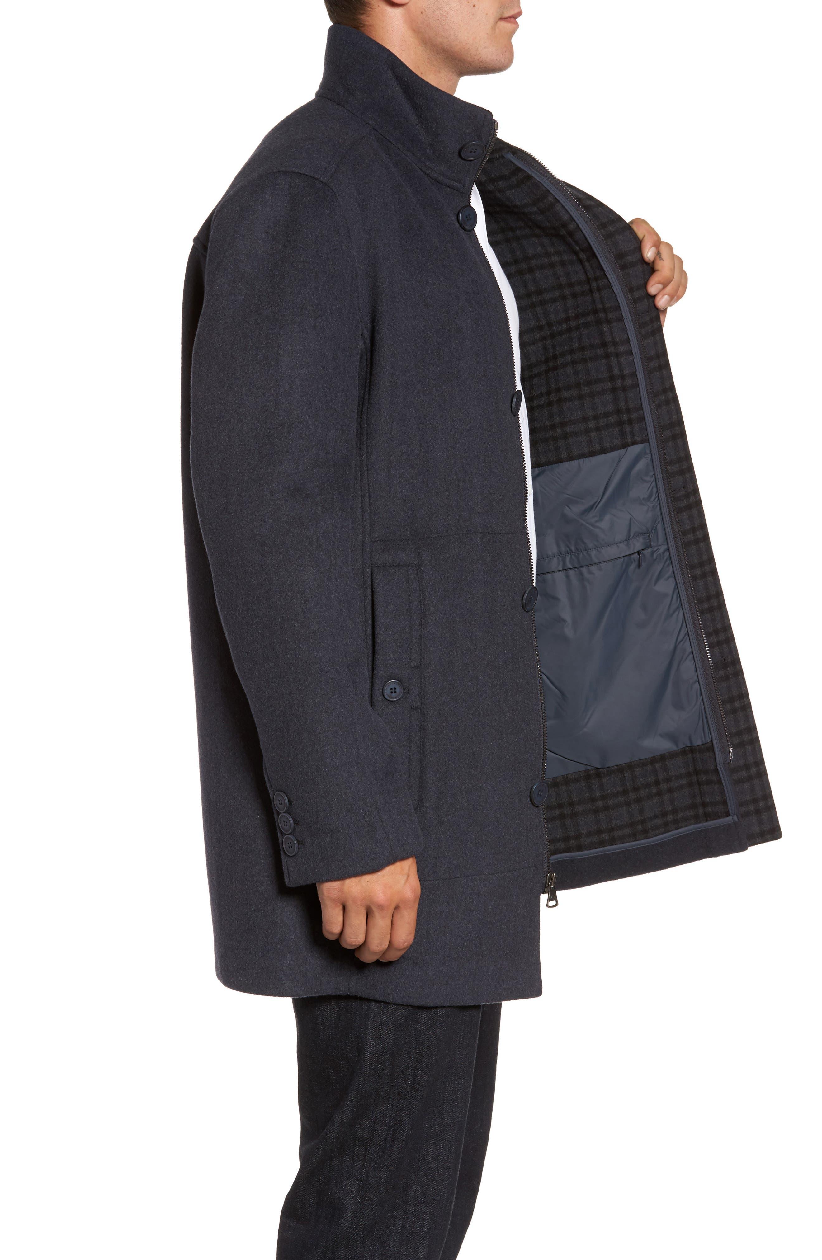Double Face Wool Blend Car Coat,                             Alternate thumbnail 6, color,