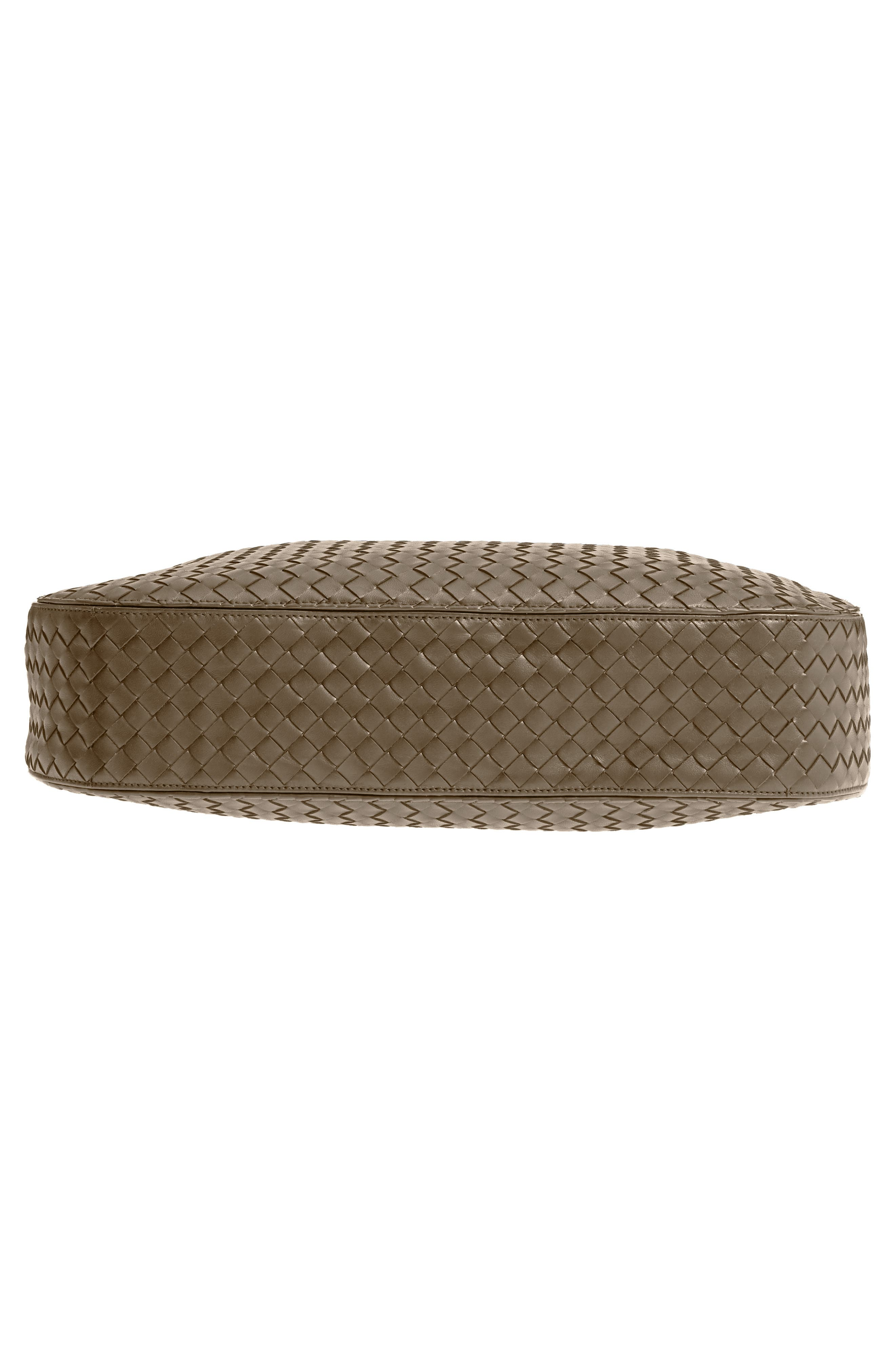 BOTTEGA VENETA,                             Large Loop Woven Leather Hobo,                             Alternate thumbnail 6, color,                             LIMESTONE