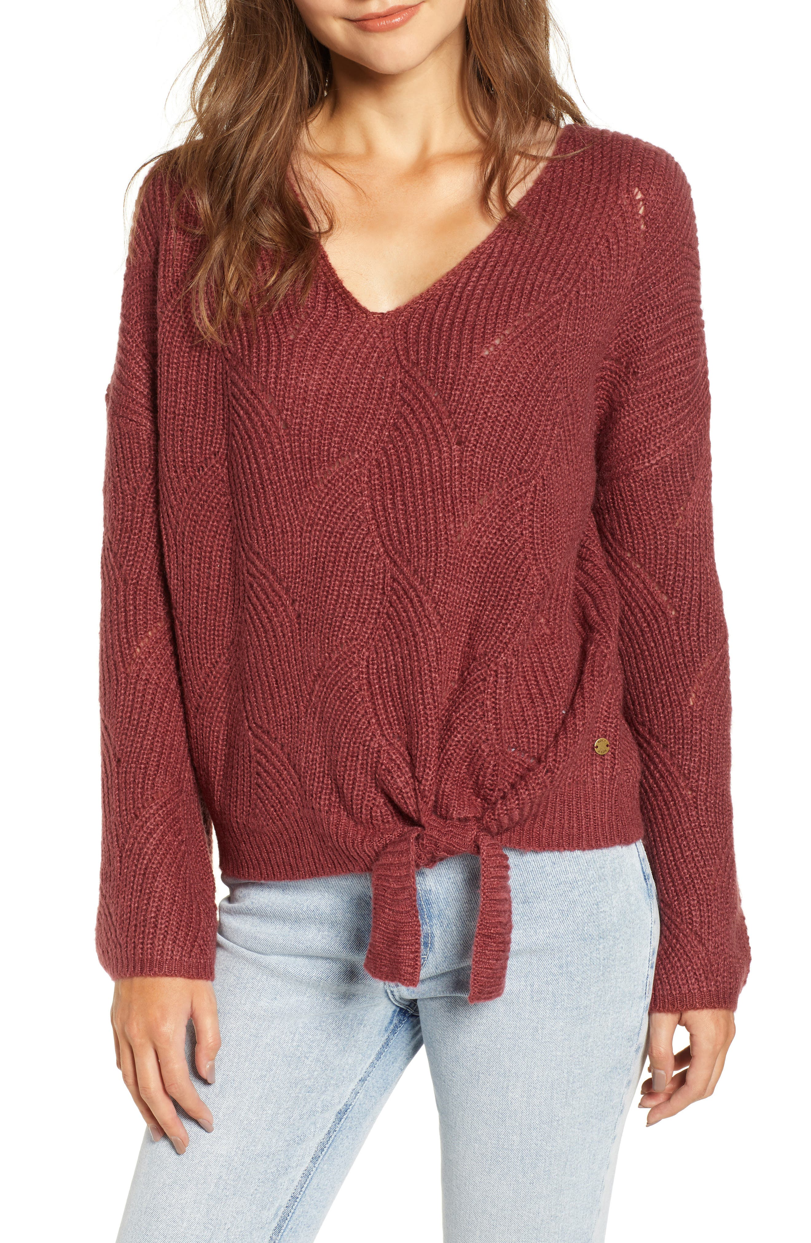 See You In Bali Sweater,                         Main,                         color, OXBLOOD RED
