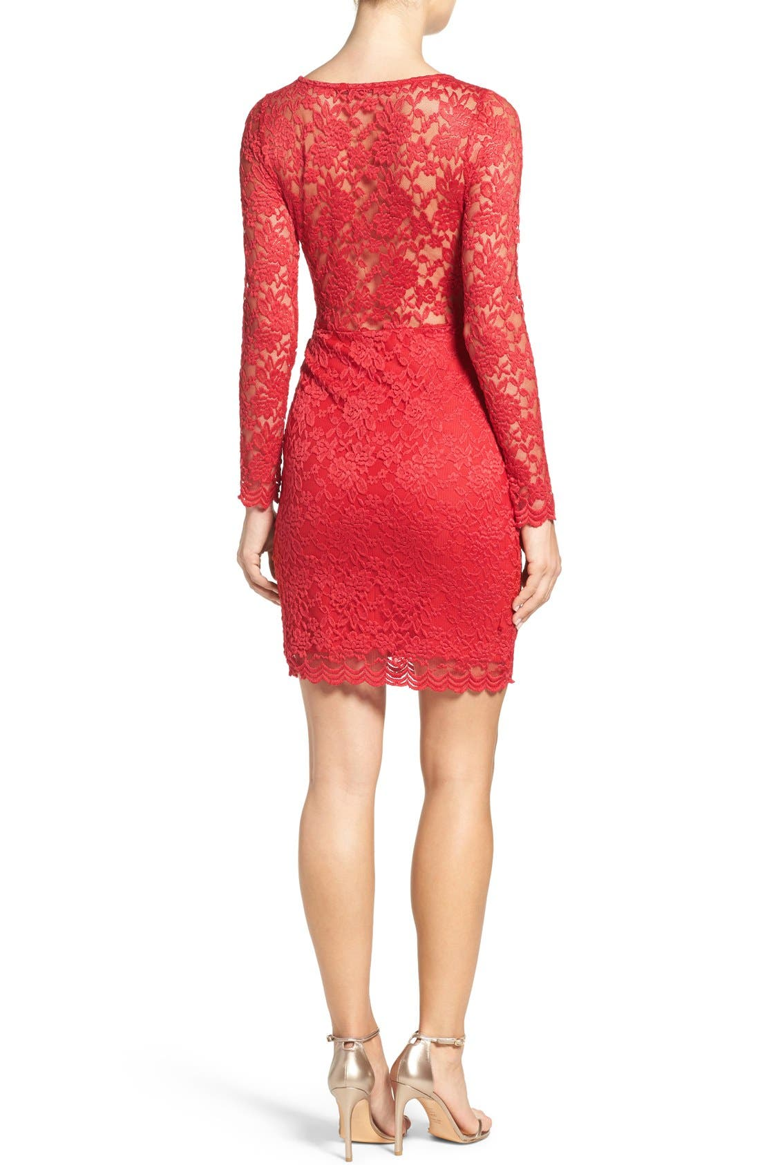 Lace Body-Con Dress,                             Main thumbnail 1, color,                             610