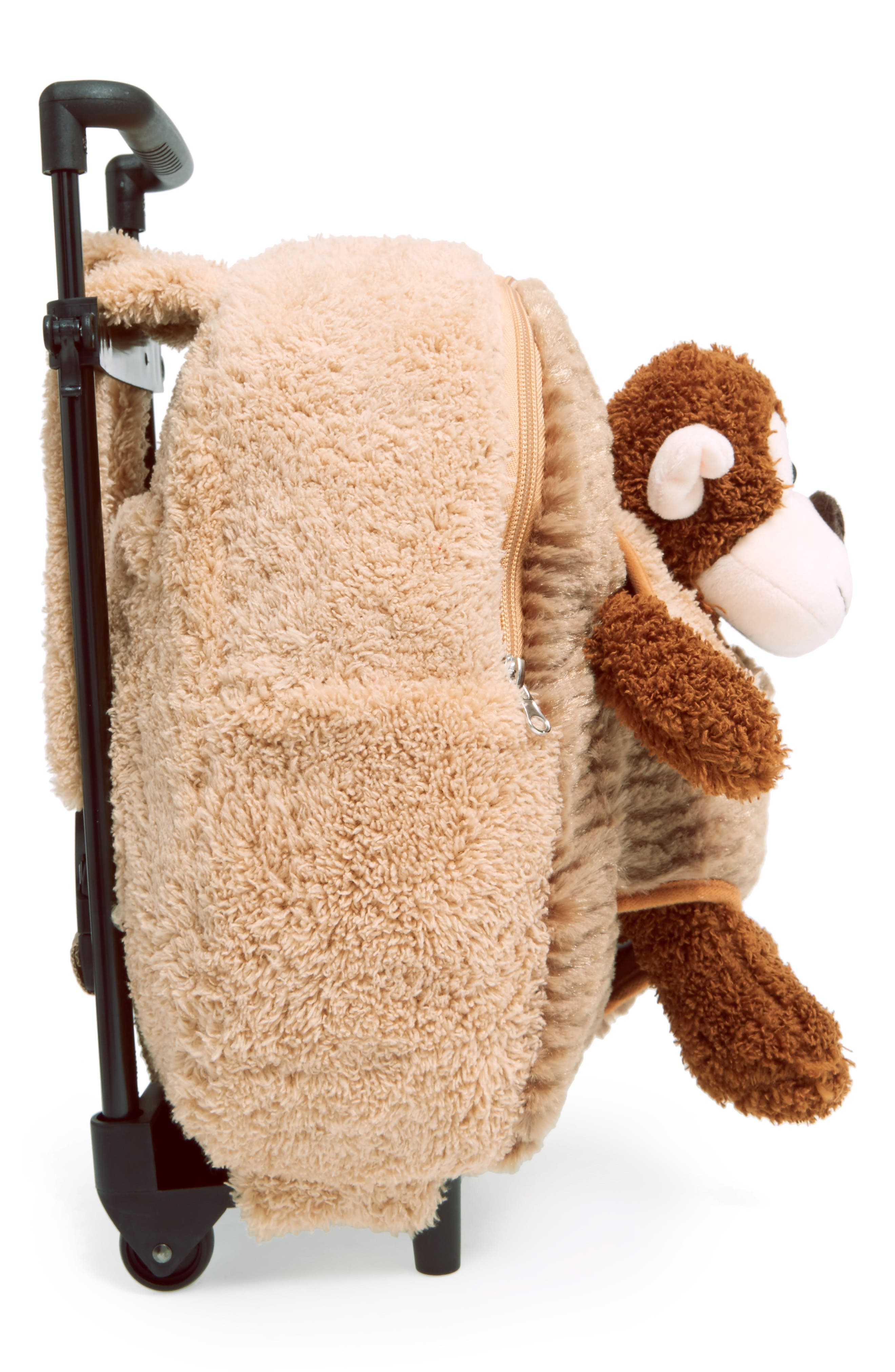 Trolley Rolling Backpack Set,                             Alternate thumbnail 5, color,                             MONKEY