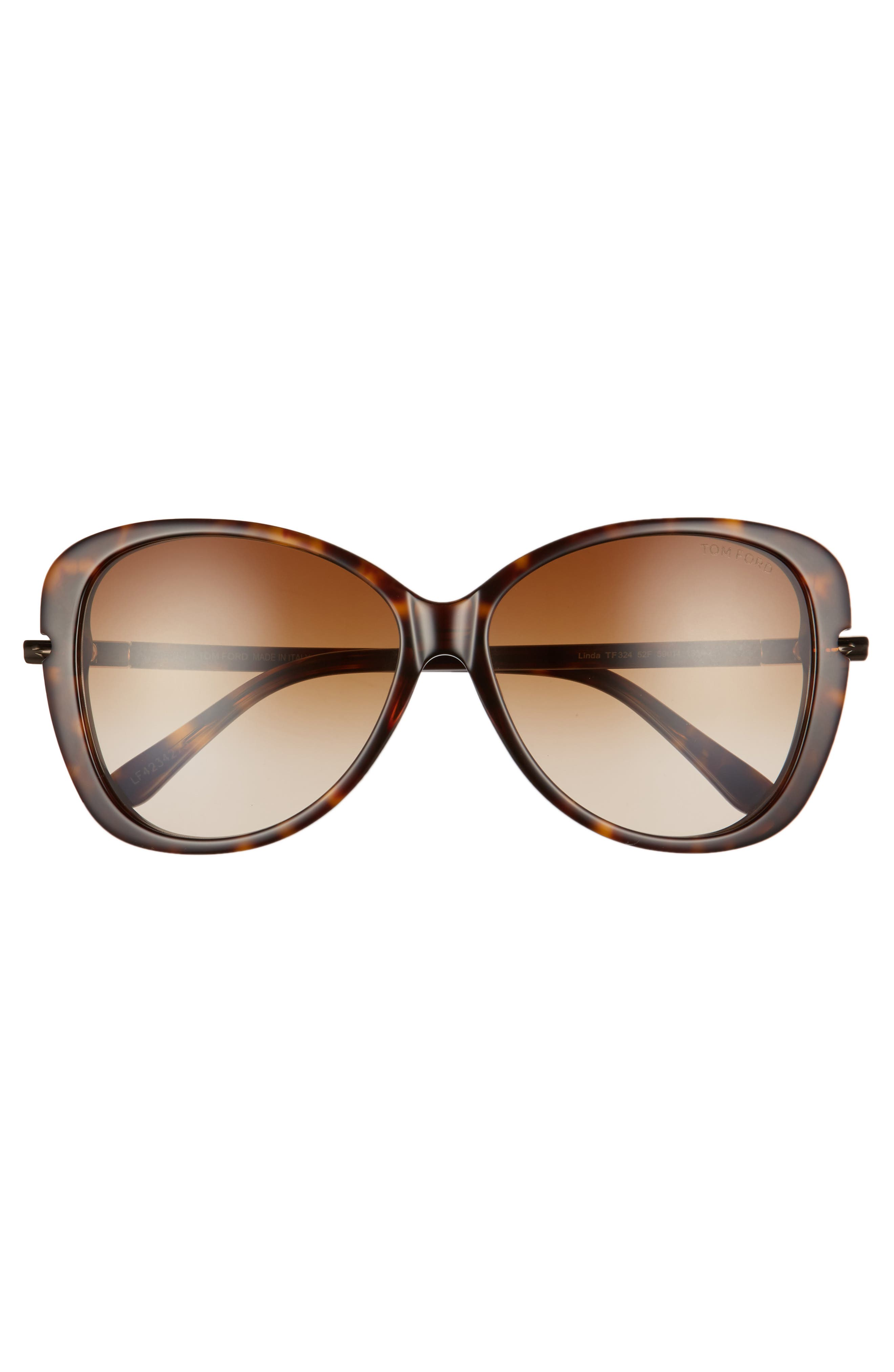 TOM FORD,                             Linda 59mm Gradient Butterfly Sunglasses,                             Alternate thumbnail 3, color,                             200