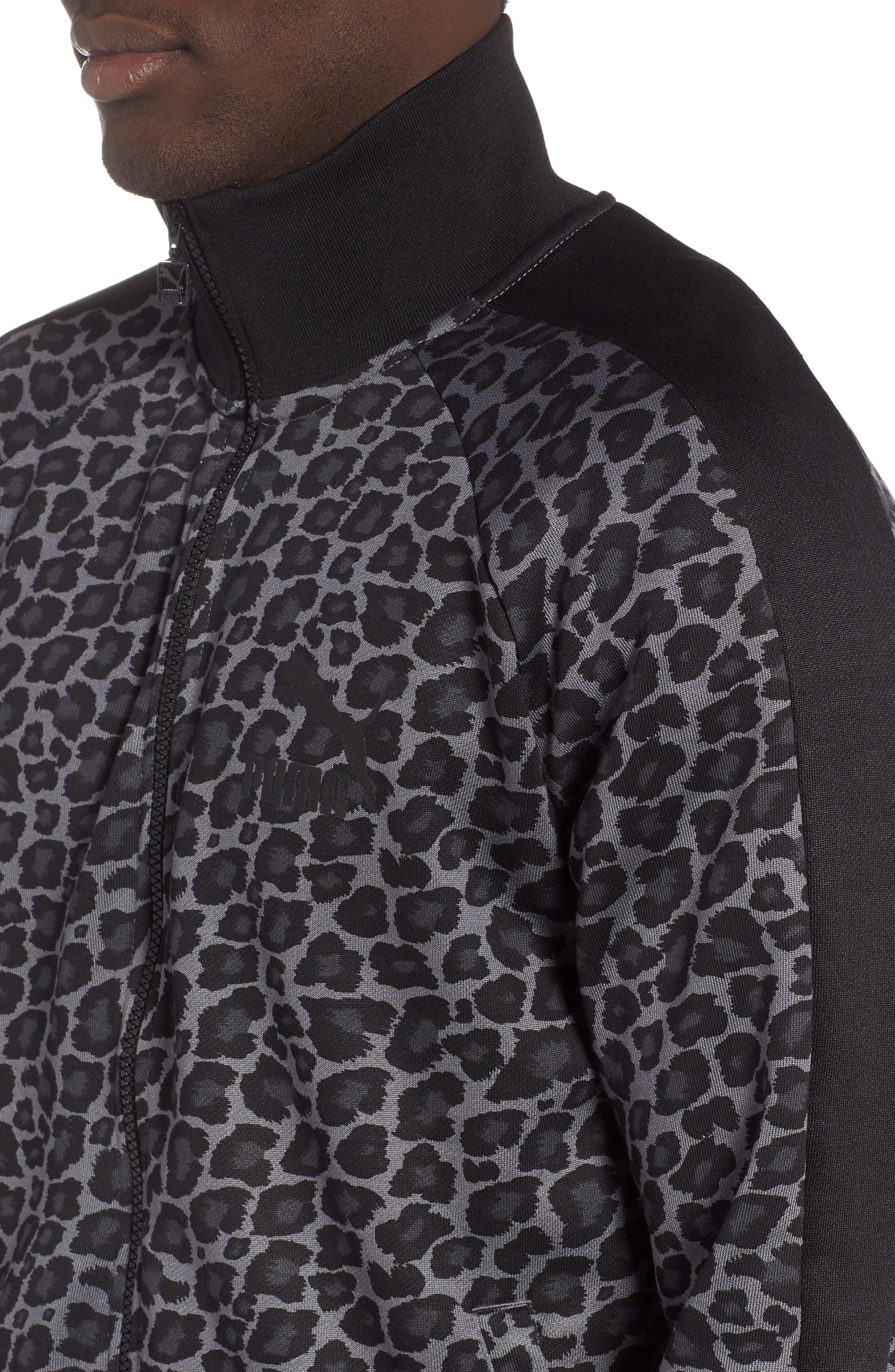 PUMA,                             Wild Pack T7 AOP Zip Track Jacket,                             Alternate thumbnail 4, color,                             060