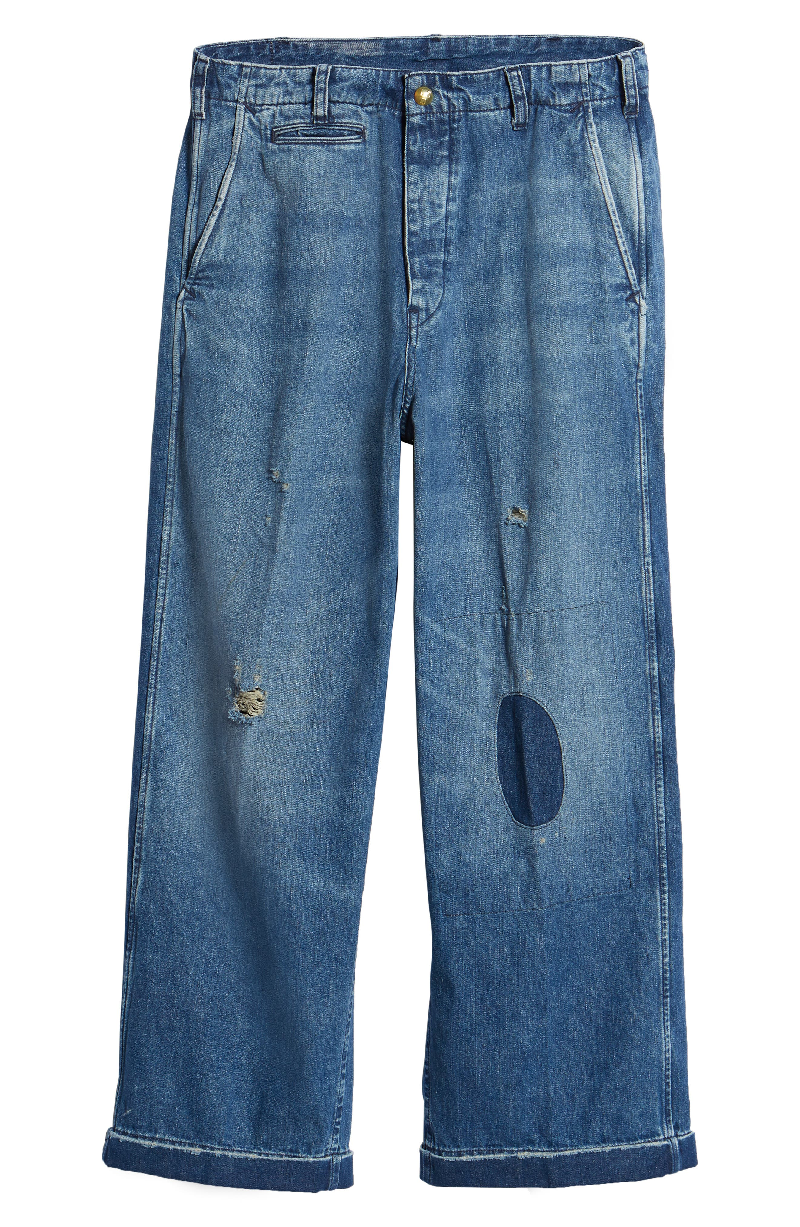 1920s Balloon Jeans,                             Alternate thumbnail 6, color,                             420