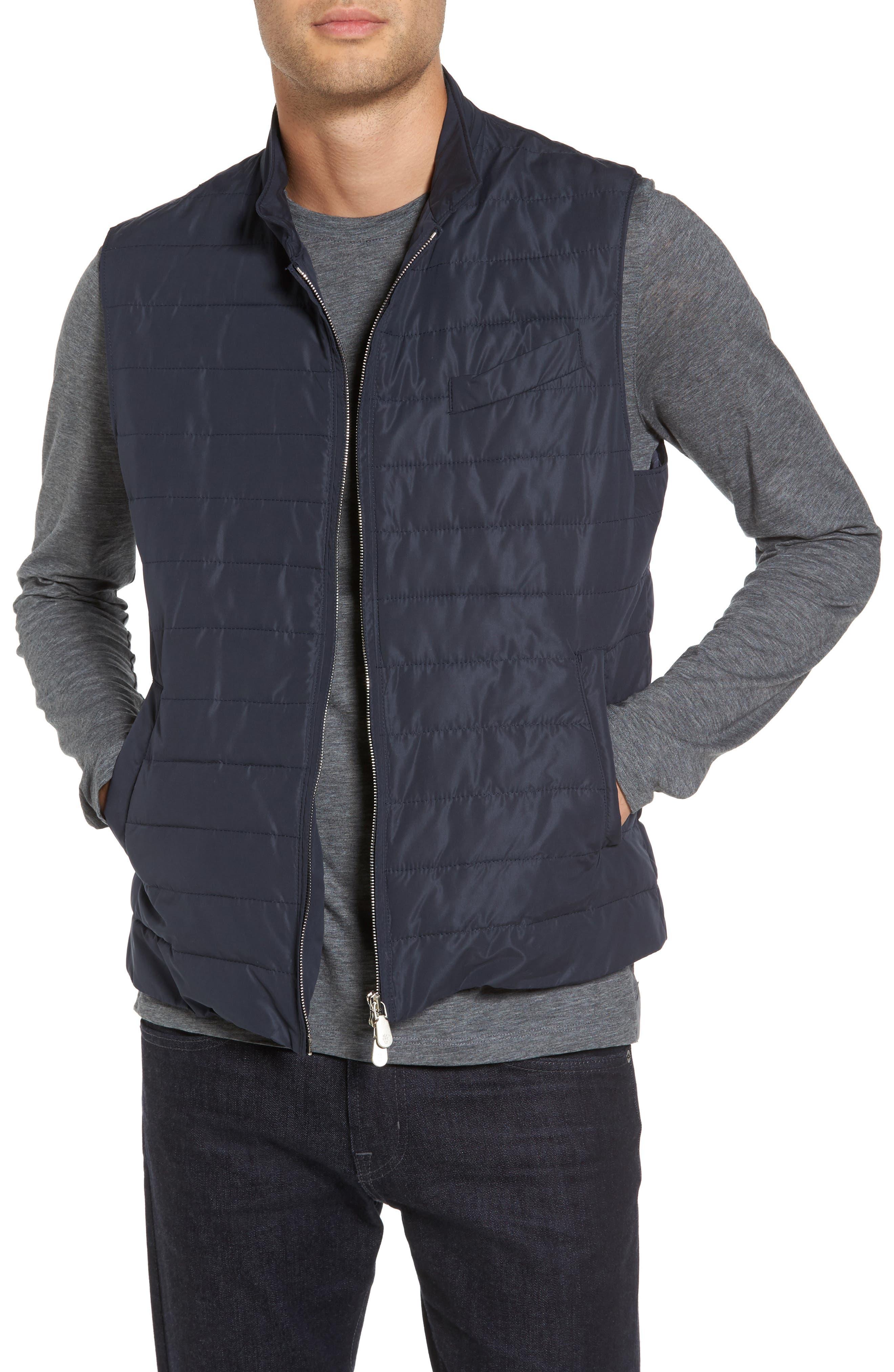 Full Zip Vest,                         Main,                         color, NAVY