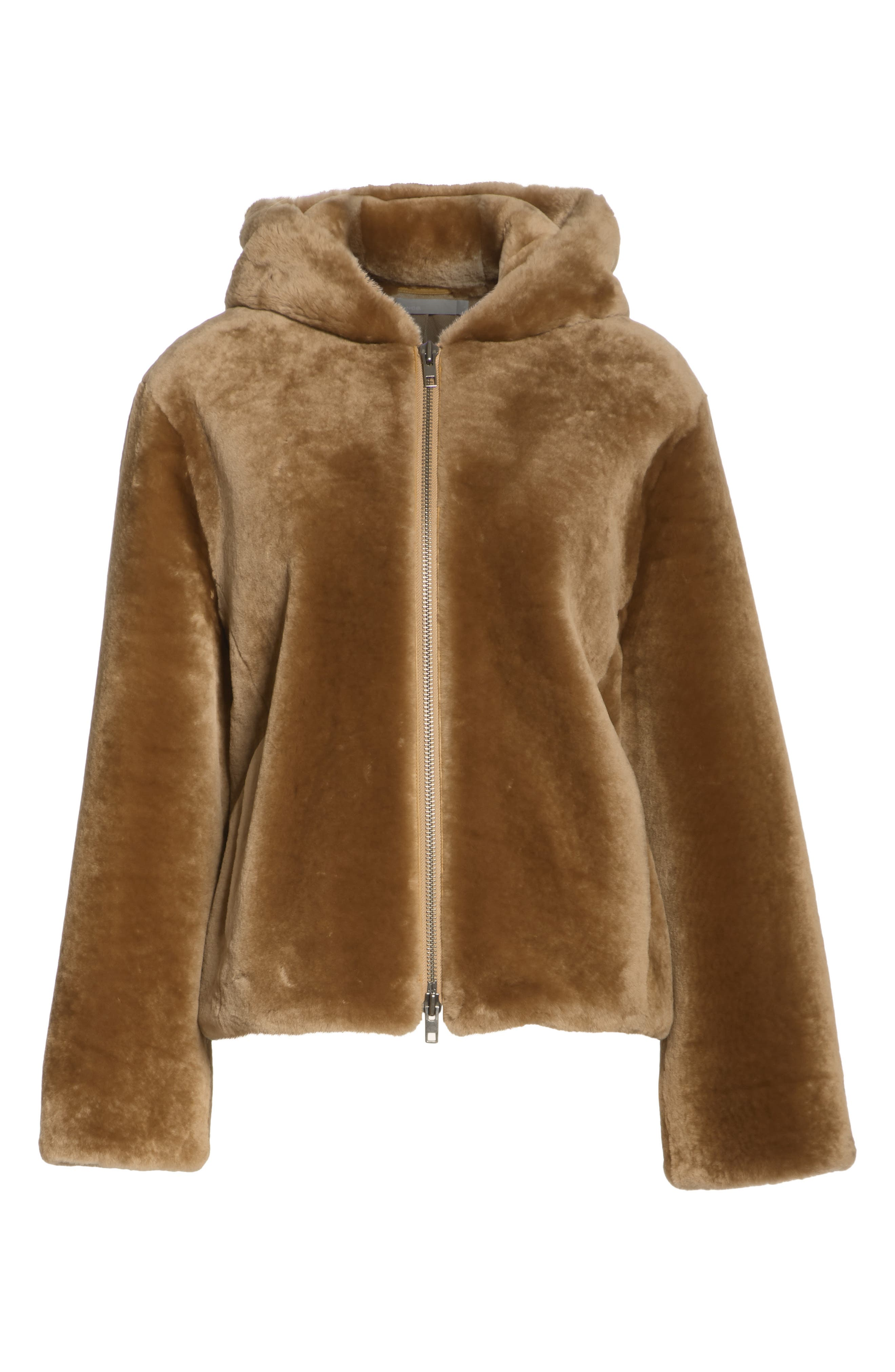 VINCE,                             Plush Fleece Zip Front Hoodie,                             Alternate thumbnail 5, color,                             203
