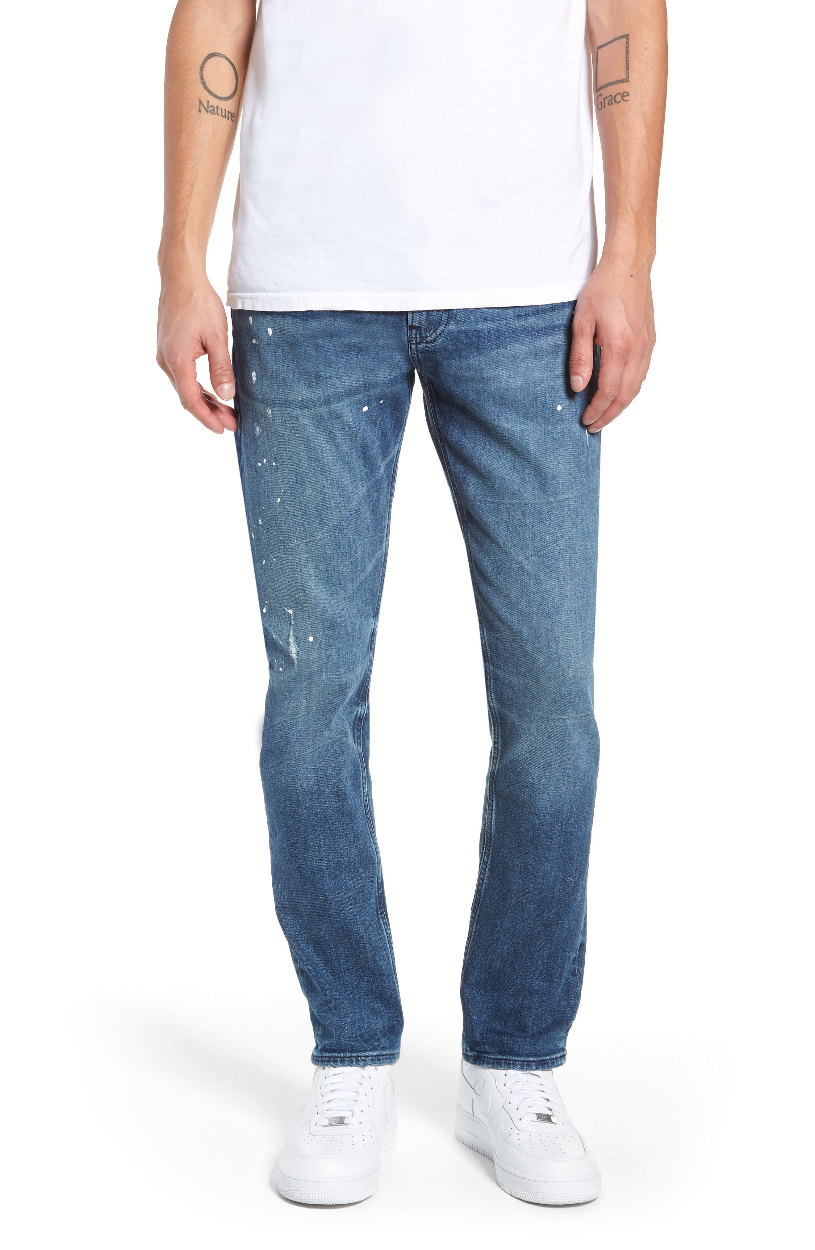 Calvin Klein Slim Fit Jeans,                             Main thumbnail 1, color,                             KINGPIN BLUE