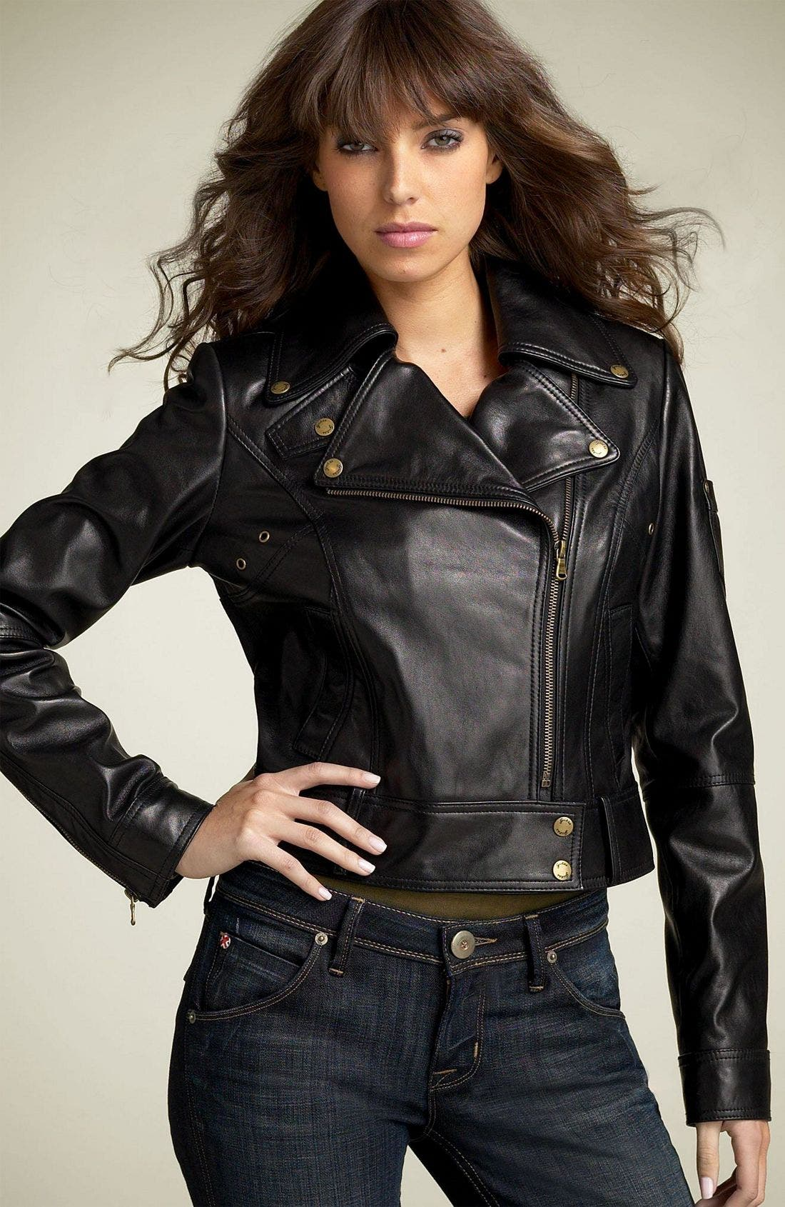 by Marciano Leather Motorcycle Jacket, Main, color, 001