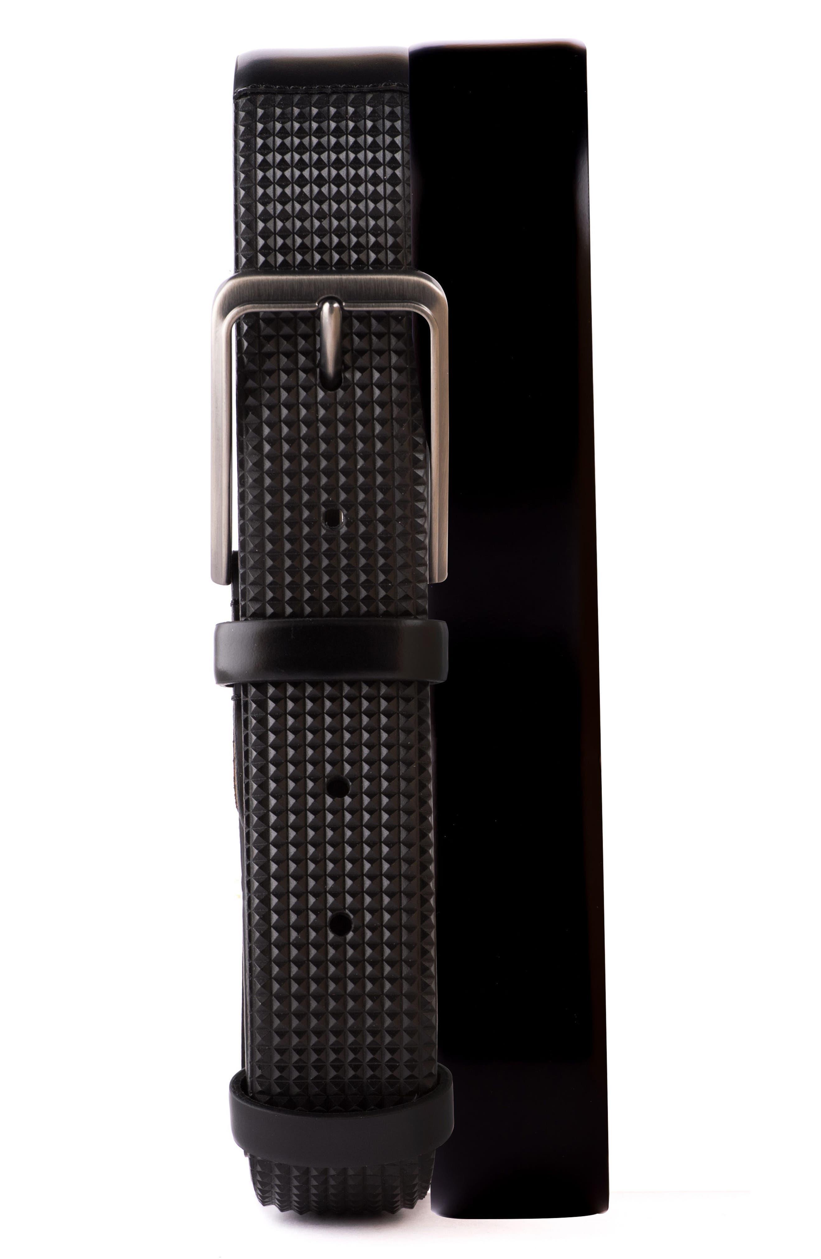 Micro Stud Leather Belt,                         Main,                         color,