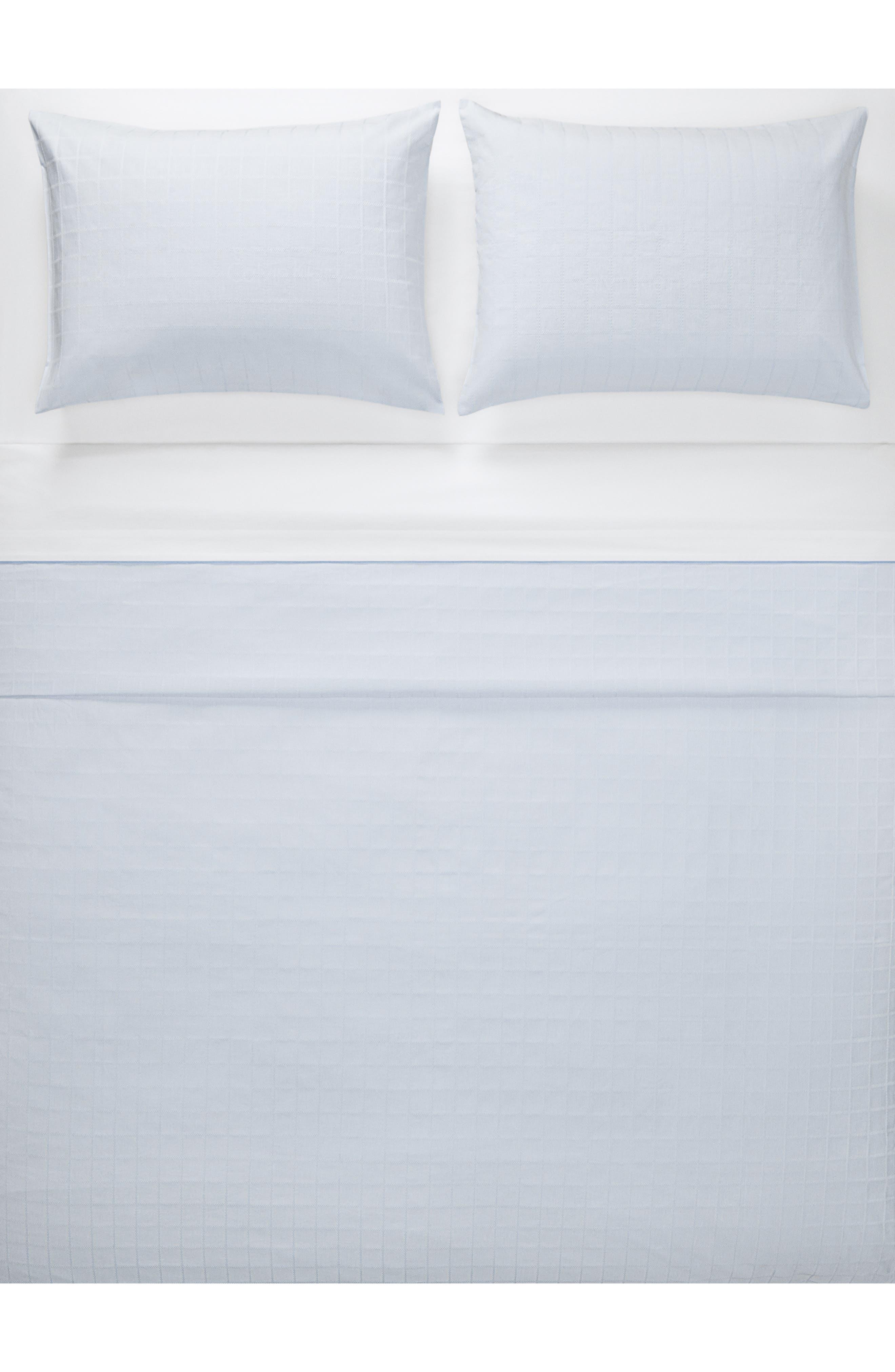 Allison Duvet Cover,                             Main thumbnail 1, color,                             WHITE/ LIGHT BLUE
