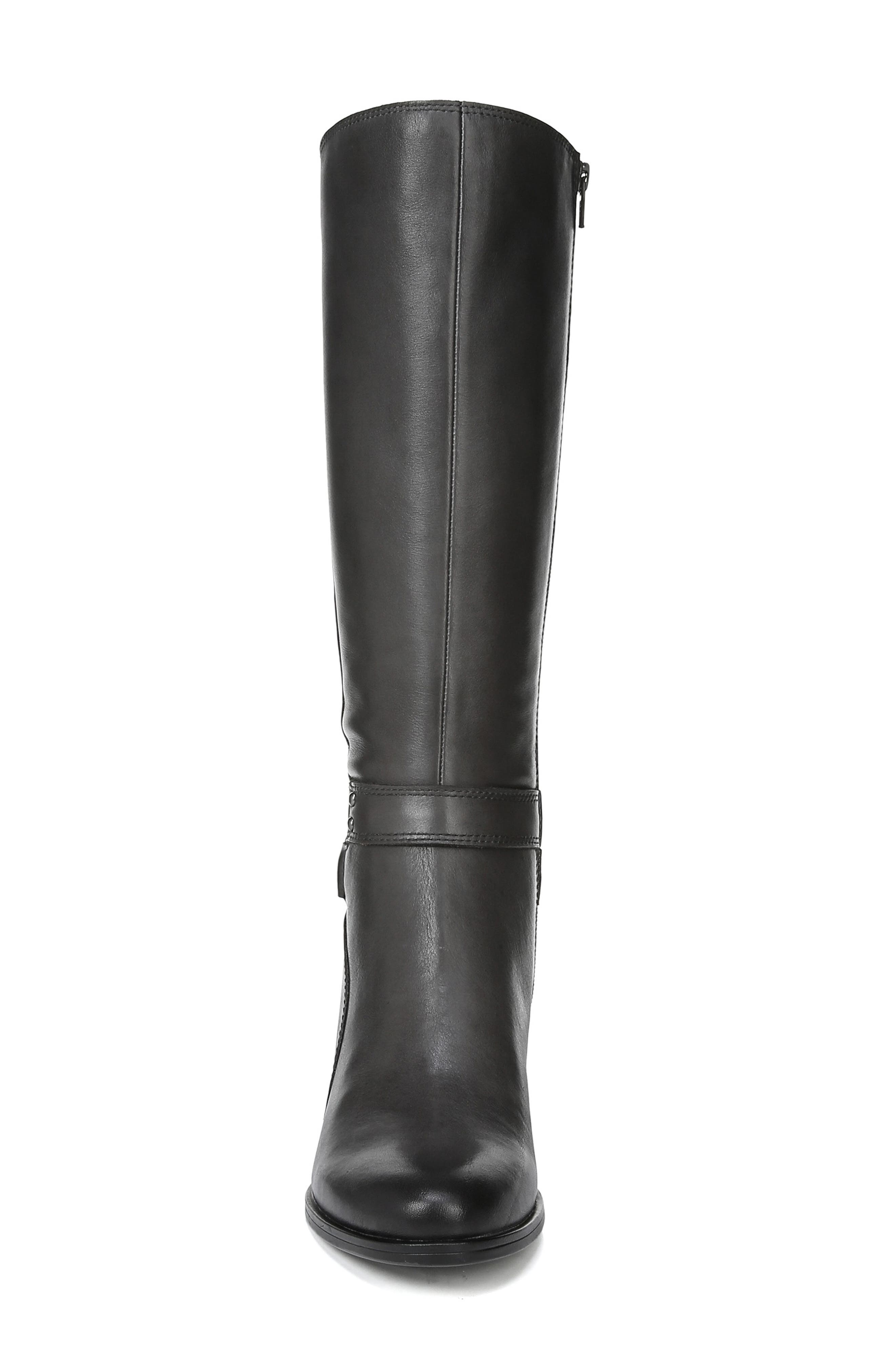 Dane Knee High Riding Boot,                             Alternate thumbnail 4, color,                             GREY LEATHER