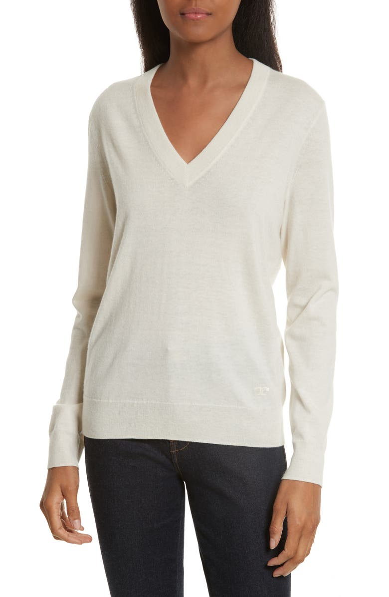 7eb36300b63 Tory Burch Marilyn V-Neck Cashmere Sweater