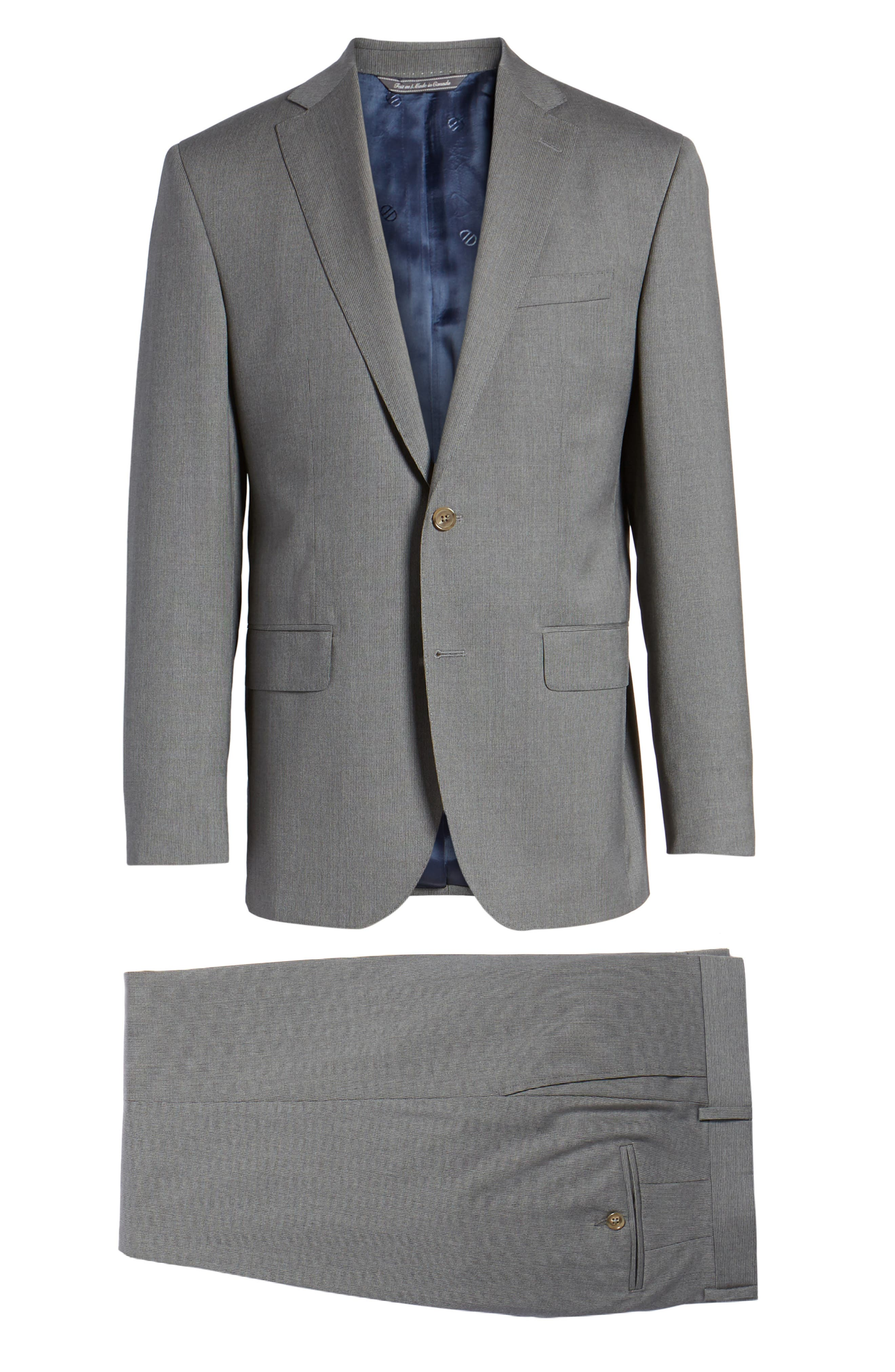 Ryan Classic Fit Stripe Wool Suit,                             Alternate thumbnail 8, color,                             030