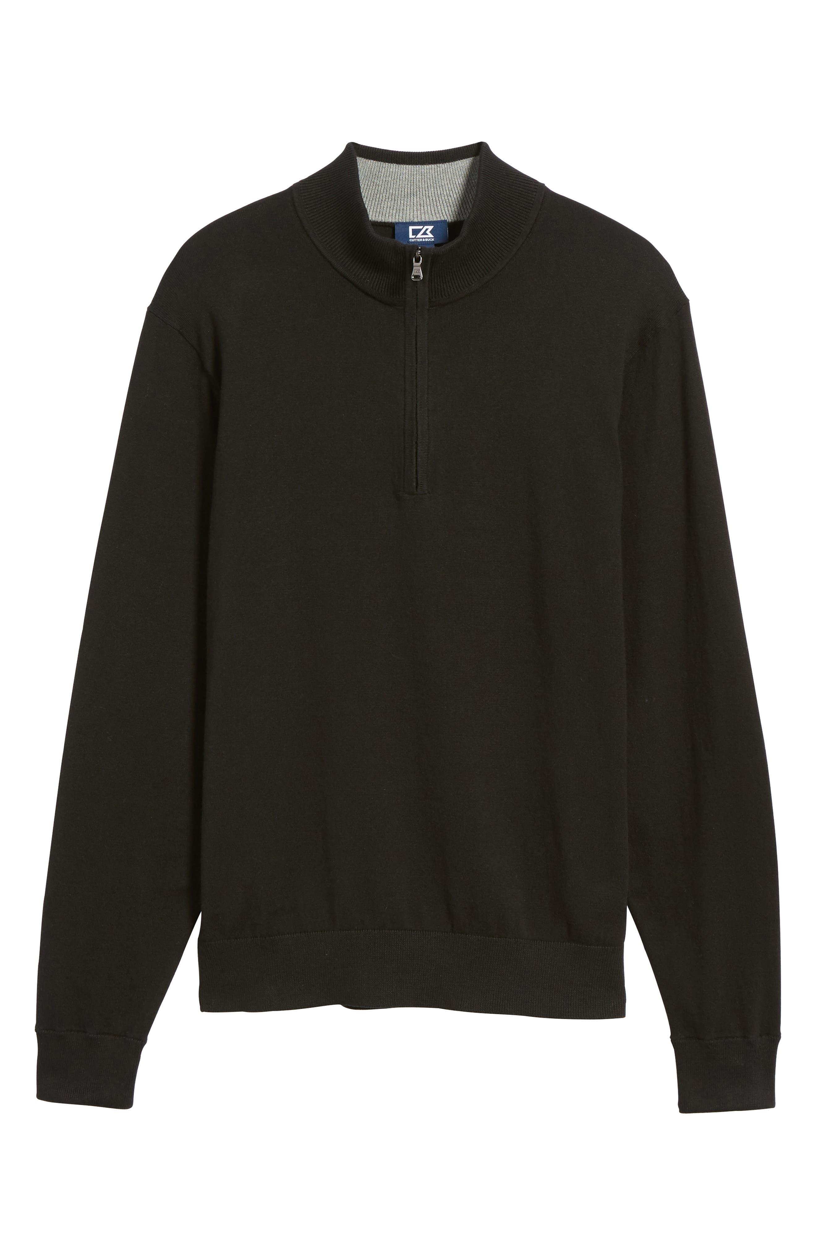Lakemont Half Zip Sweater,                             Alternate thumbnail 6, color,                             BLACK