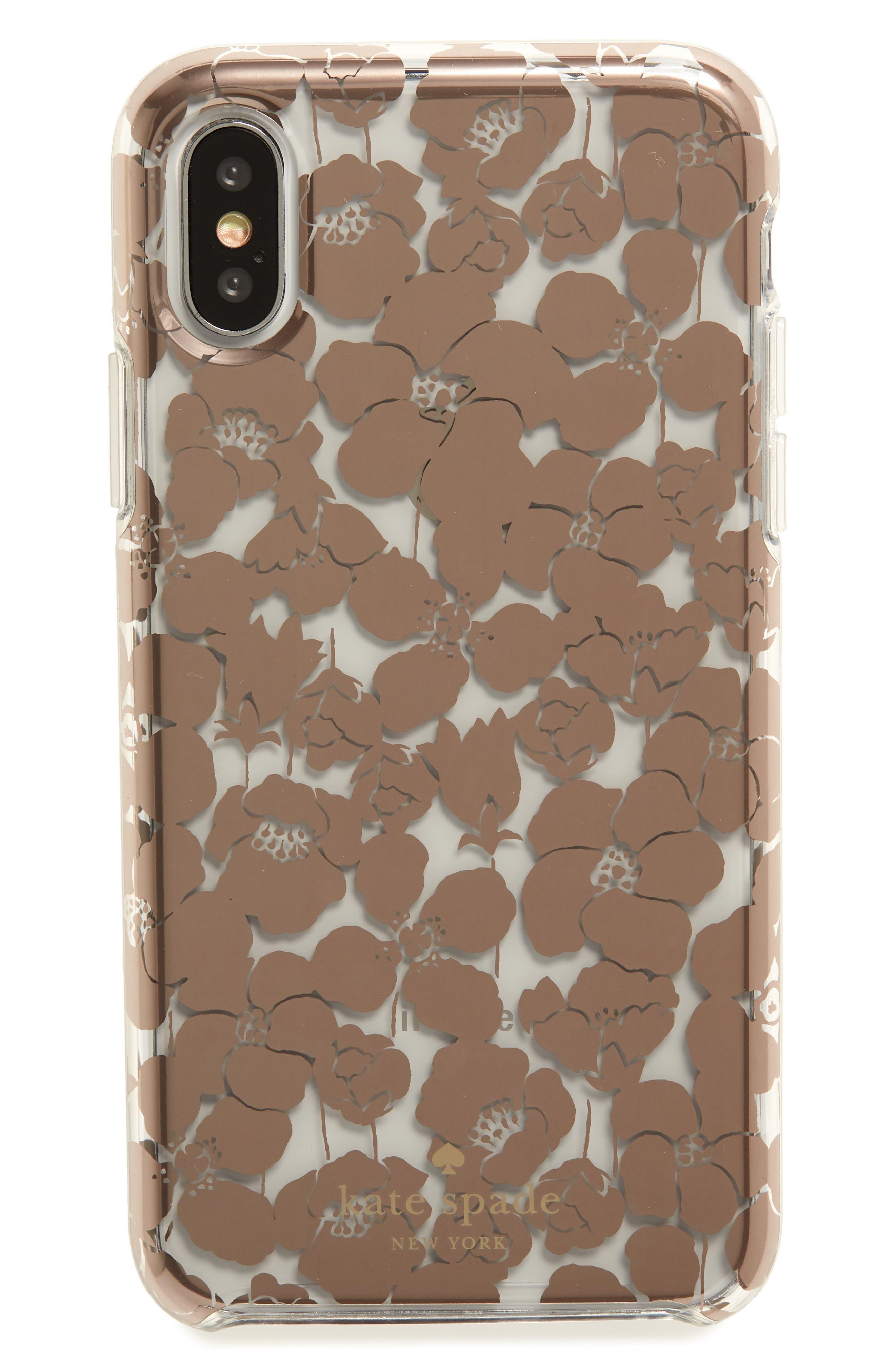 floret iPhone X/Xs, Xs Max & XR case,                             Main thumbnail 1, color,                             CLEAR MULTI