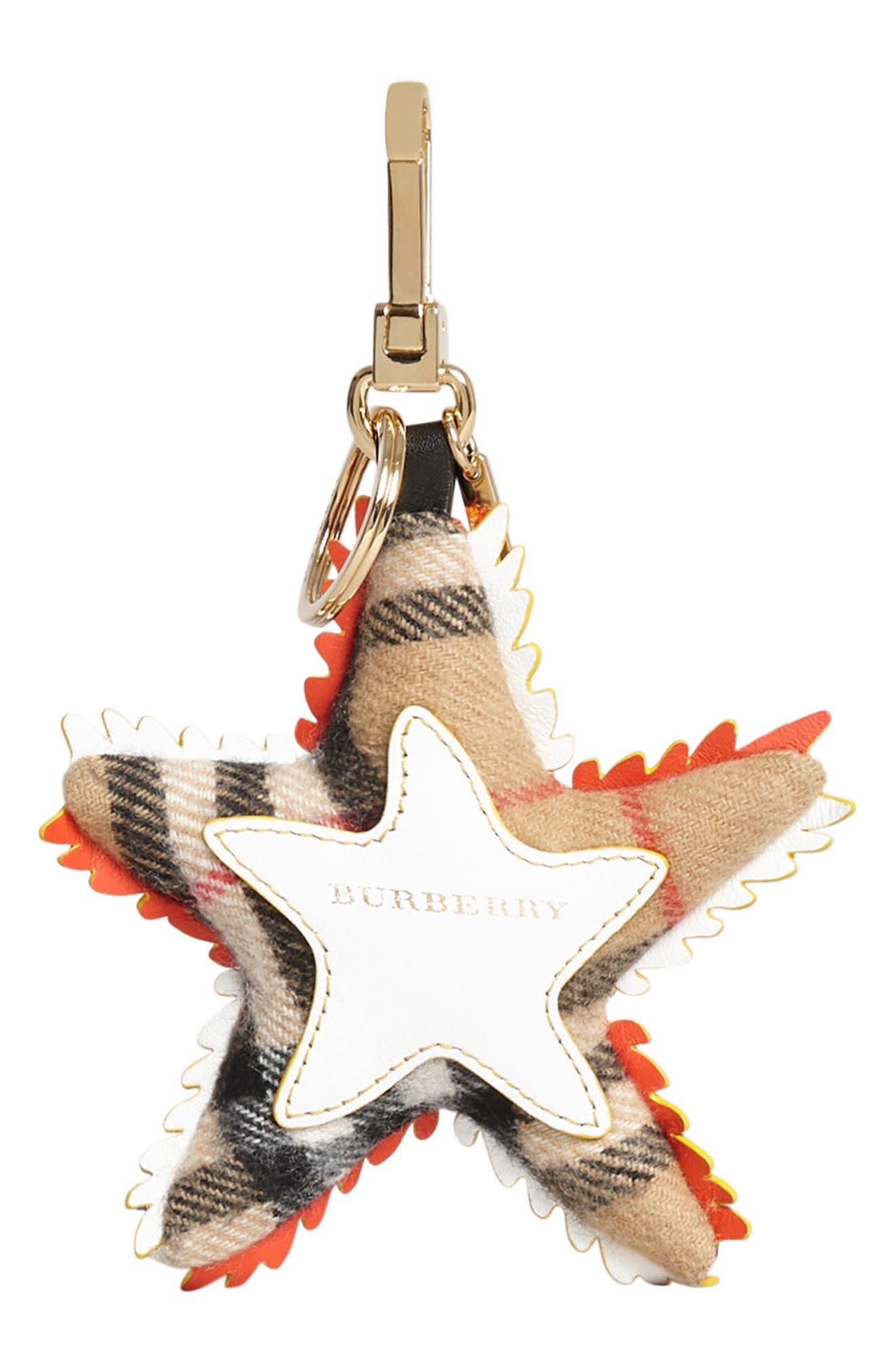 Phil the Starfish Cashmere Bag Charm,                             Alternate thumbnail 5, color,                             801