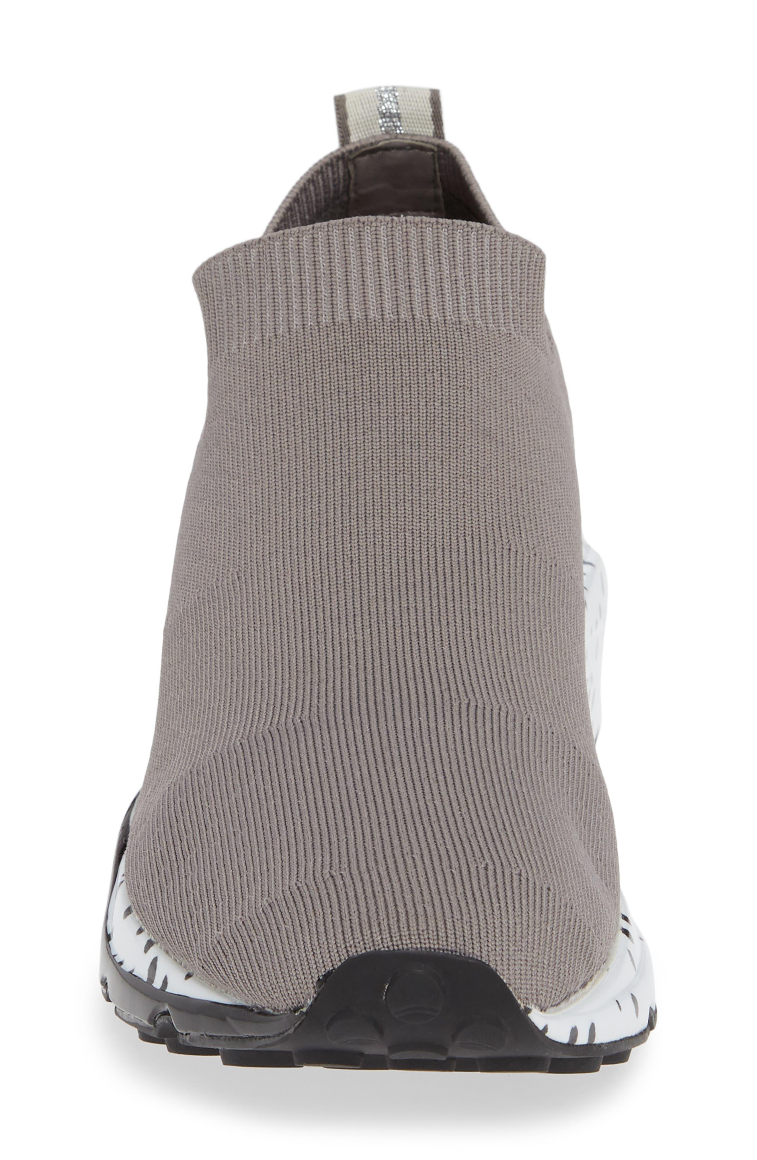 Cloud Sock Wedge Sneaker,                             Alternate thumbnail 4, color,                             GREY