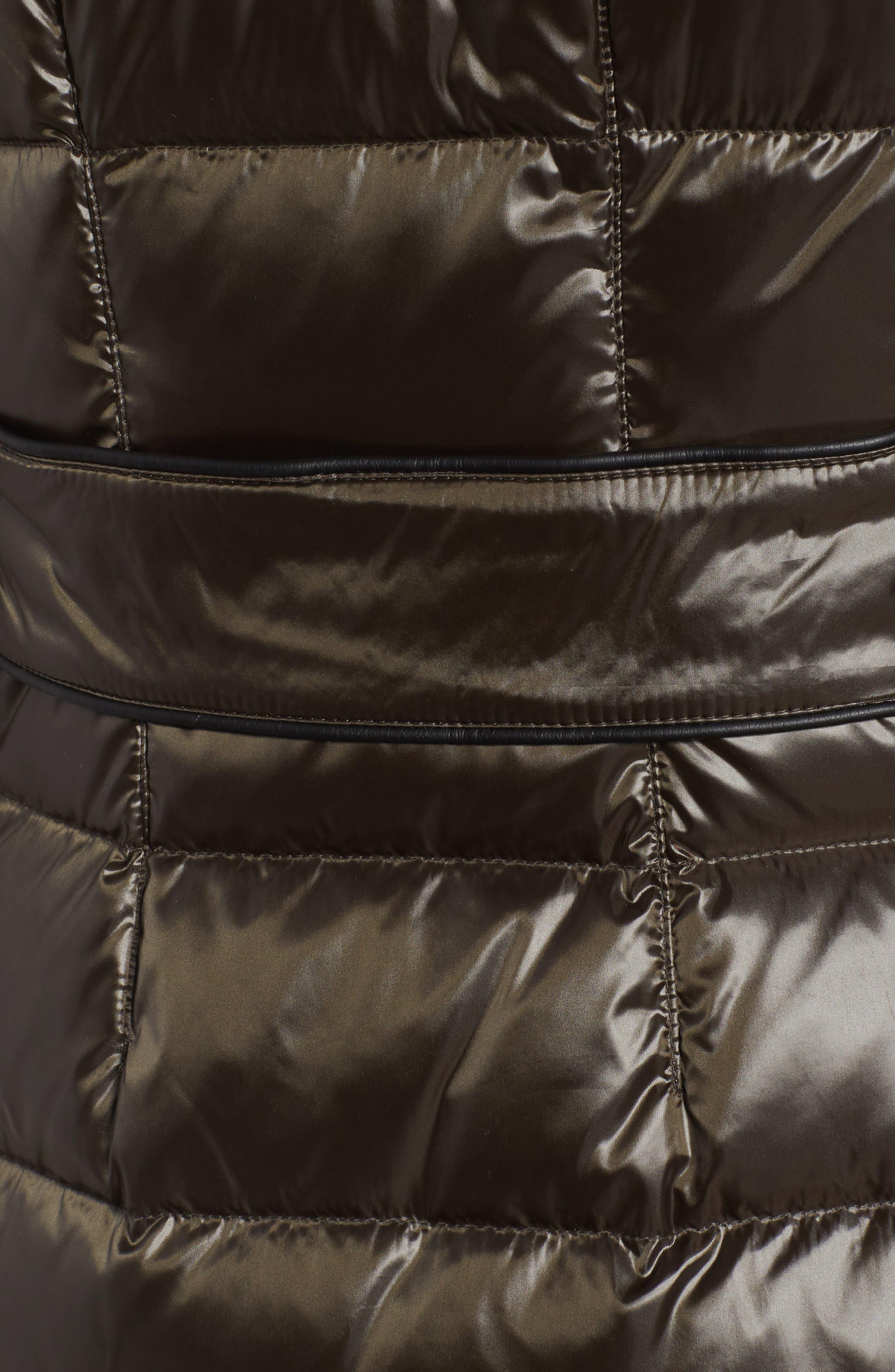 Down Puffer Coat with Faux Fur Trim,                             Alternate thumbnail 18, color,