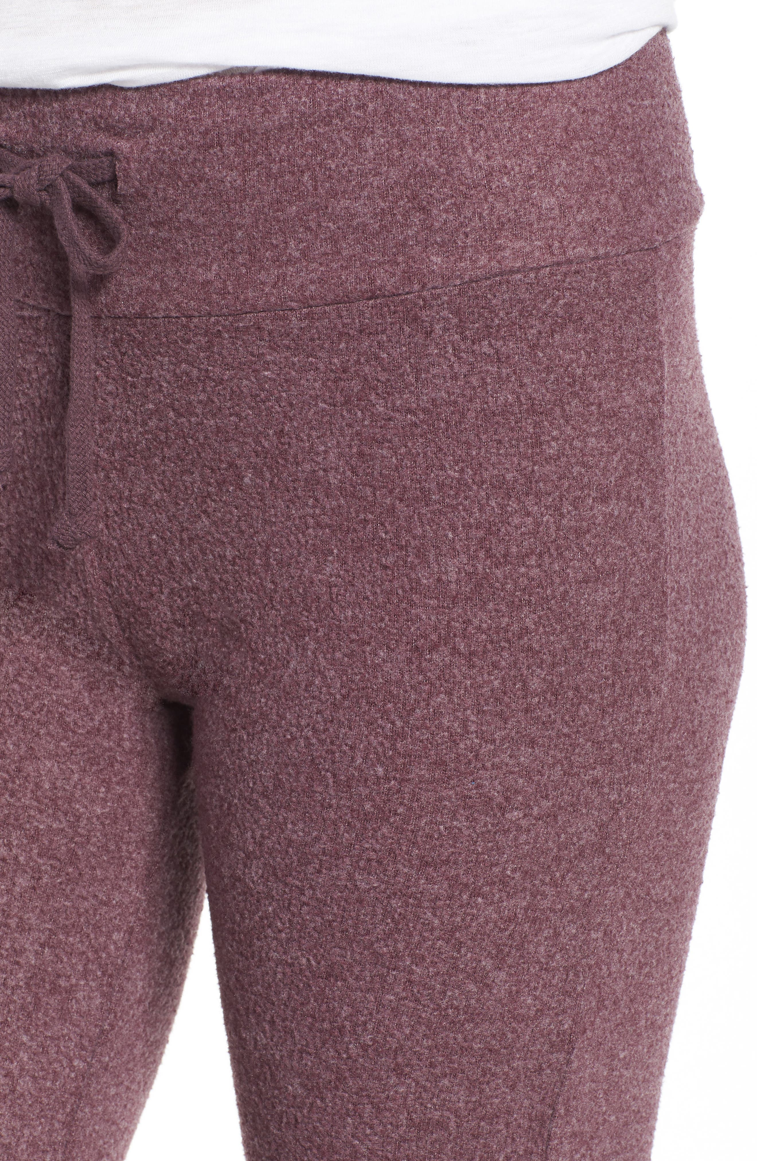 Tennis Club Fleece Pants,                             Alternate thumbnail 4, color,                             CRUSHED BERRY
