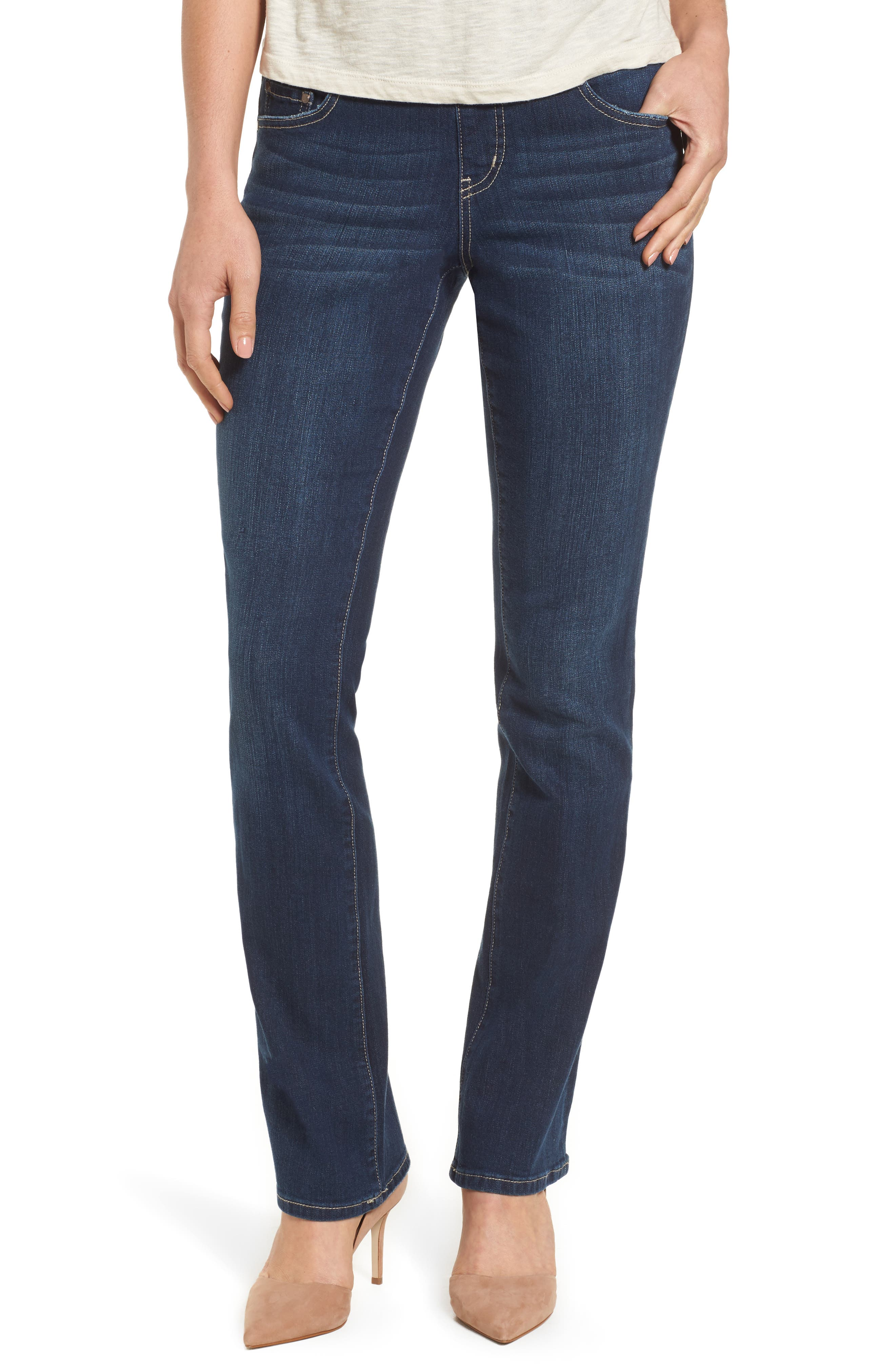 Paley Stretch Bootcut Jeans,                         Main,                         color, DARK INDIGO